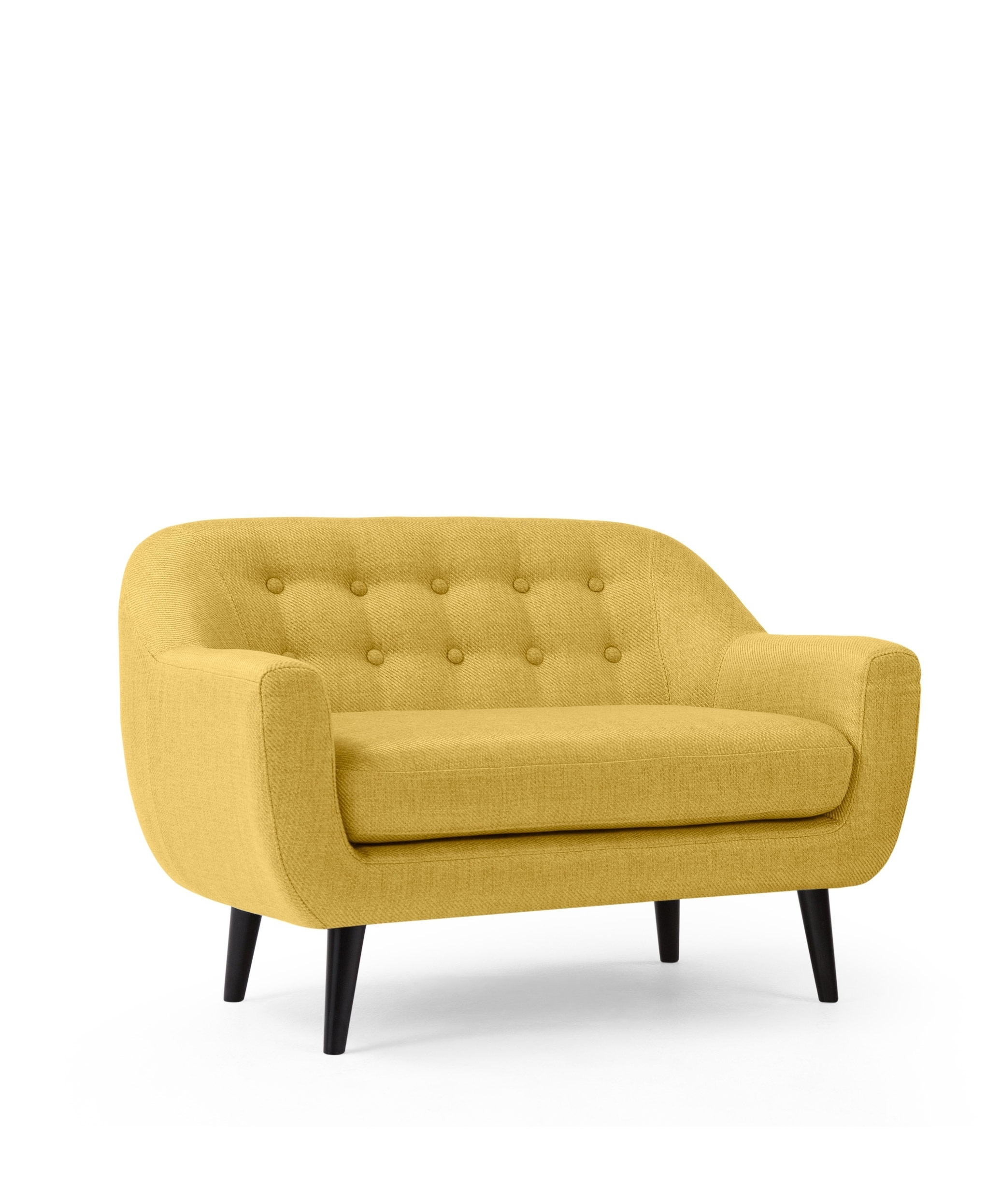 Most Recently Released Mini Sofas Regarding The Mini Ritchie 2 Seater Sofa, In Ochre Yellow (View 9 of 15)