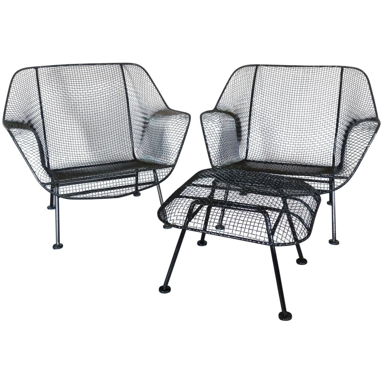 Most Recently Released Of Woodard Wrought Iron With Mesh Lounge Chairs At 1Stdibs For Wrought Iron Chaise Lounge Chairs (View 7 of 15)