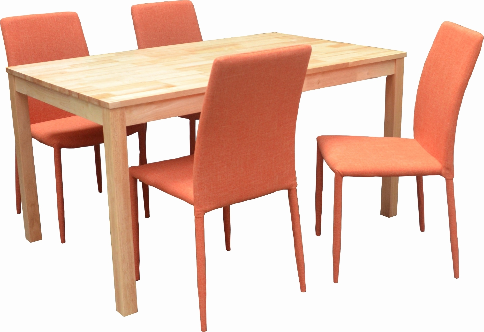 Most Recently Released Orange Chaises With Regard To Table Et Chaises Cuisine Elegant Table Ronde 4 Chaises Smogue Bois (View 10 of 15)