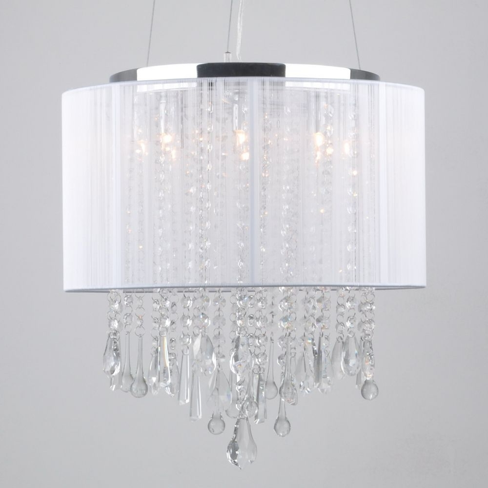 Most Recently Released Pleasant Idea Lamp Shades With Crystals Shade Hanging Black With Regard To Drum Lamp Shades For Chandeliers (View 8 of 15)