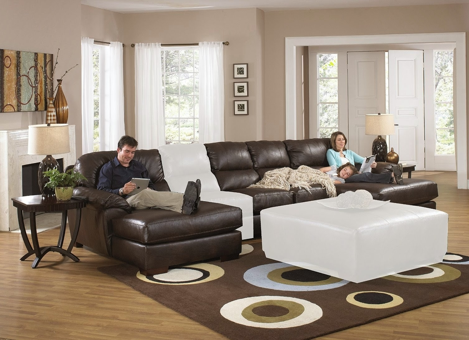 Most Recently Released Sectional Couches Big Lots Brown Microfiber Recliner Sectional Regarding Reclining Sofas With Chaise (View 9 of 15)