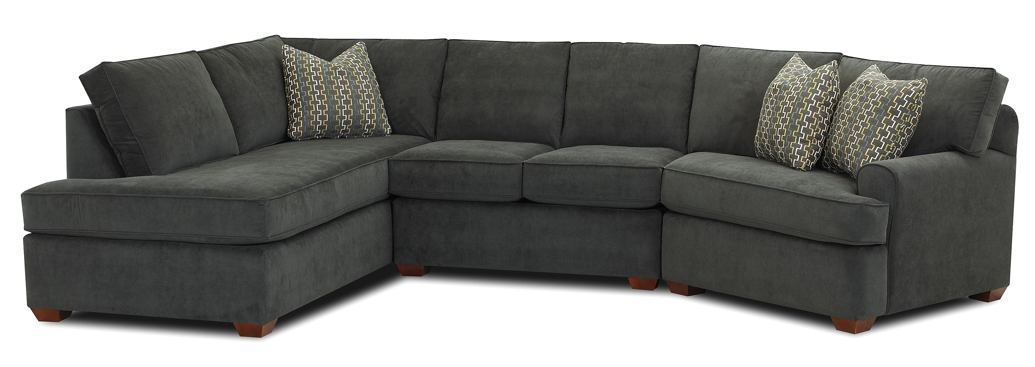 Most Recently Released Sectional Sofa Chaises Regarding Sectional Sofa With Right Facing Sofa Chaiseklaussner (View 6 of 15)
