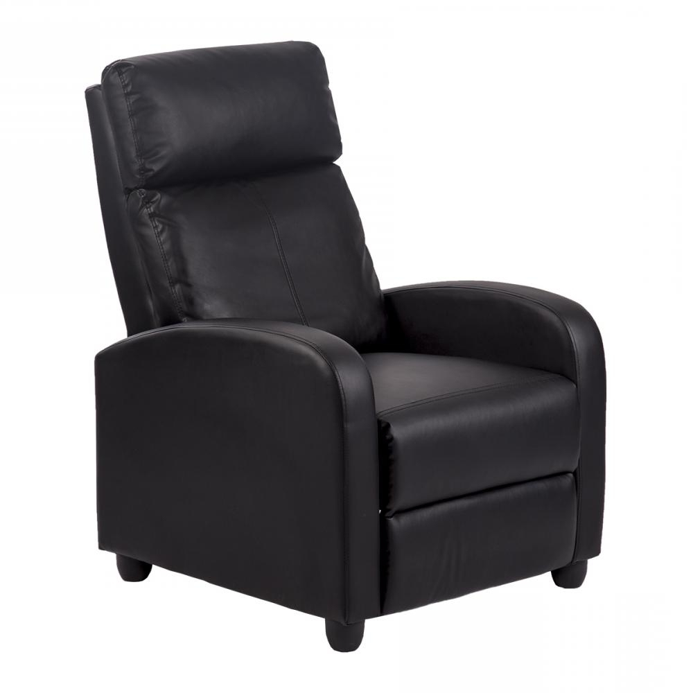Most Recently Released Single Sofa Chairs Regarding Recliner Chair Modern Leather Chaise Couch Single Accent Recliner (View 3 of 15)
