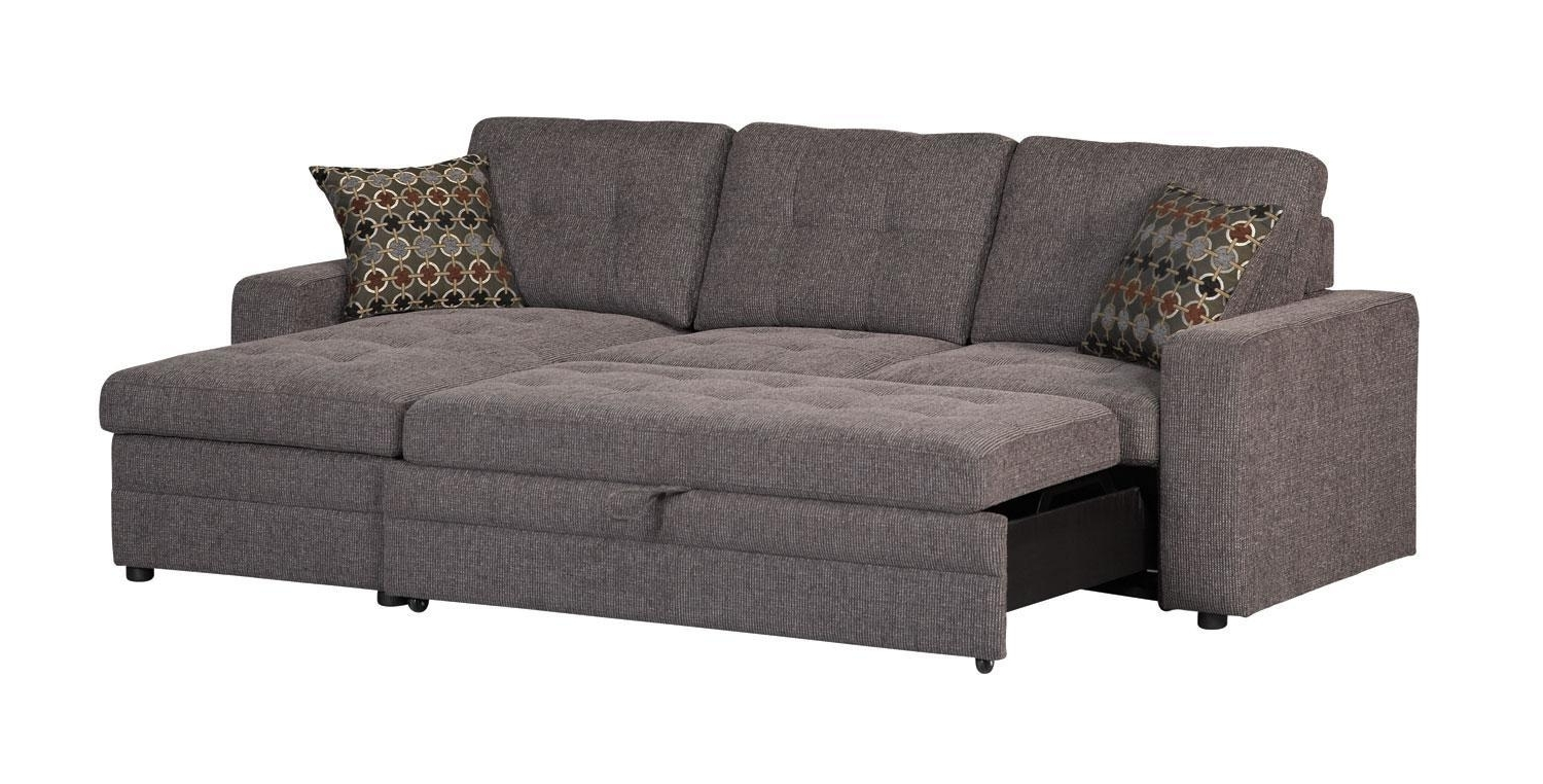 Most Recently Released Sleeper Sofas With Chaise Regarding Gus Charcoal Sectional Sofa 501677 Coaster Furniture Sectional (View 5 of 15)
