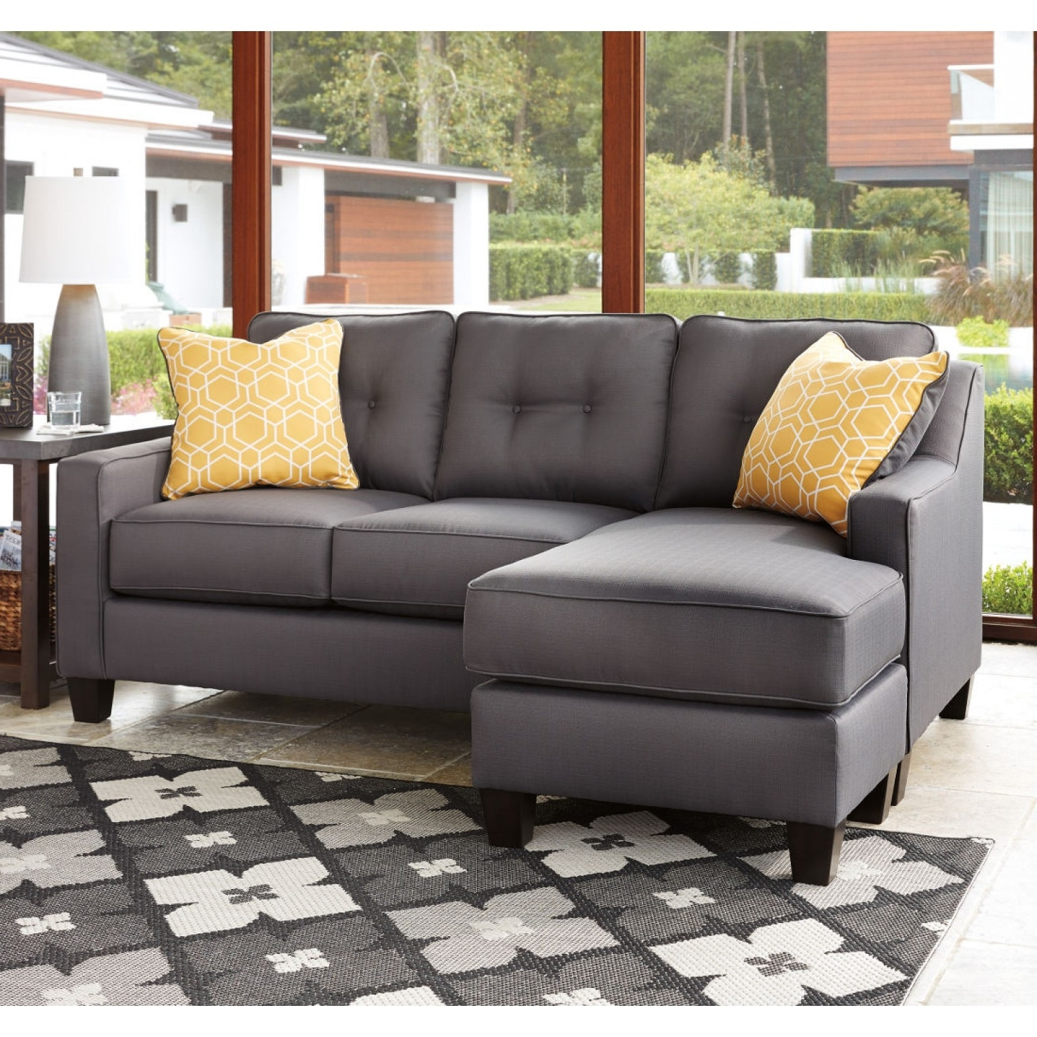 Most Recently Released Sofa And Chaise Sets Pertaining To Sofa And Chaise Set In Magnificent Ashley Furniture 75006 18 Set (View 7 of 15)