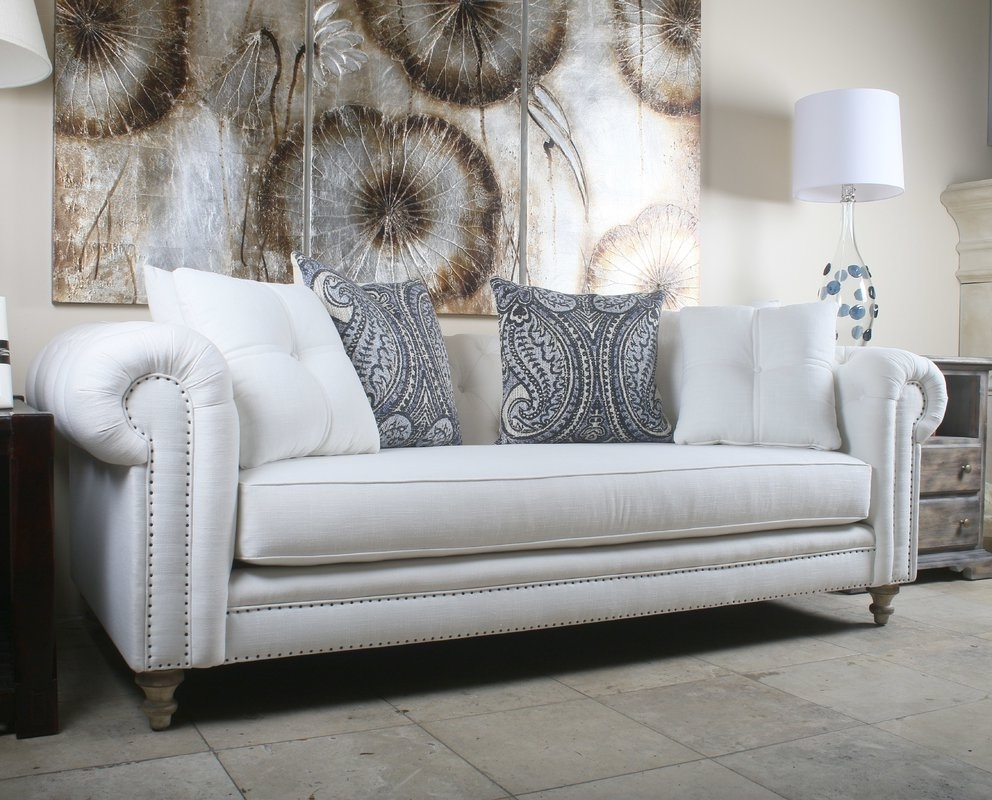 Most Recently Released South Cone Home Hanover Tufted Linen Chesterfield Sofa & Reviews With Regard To Tufted Linen Sofas (View 13 of 15)