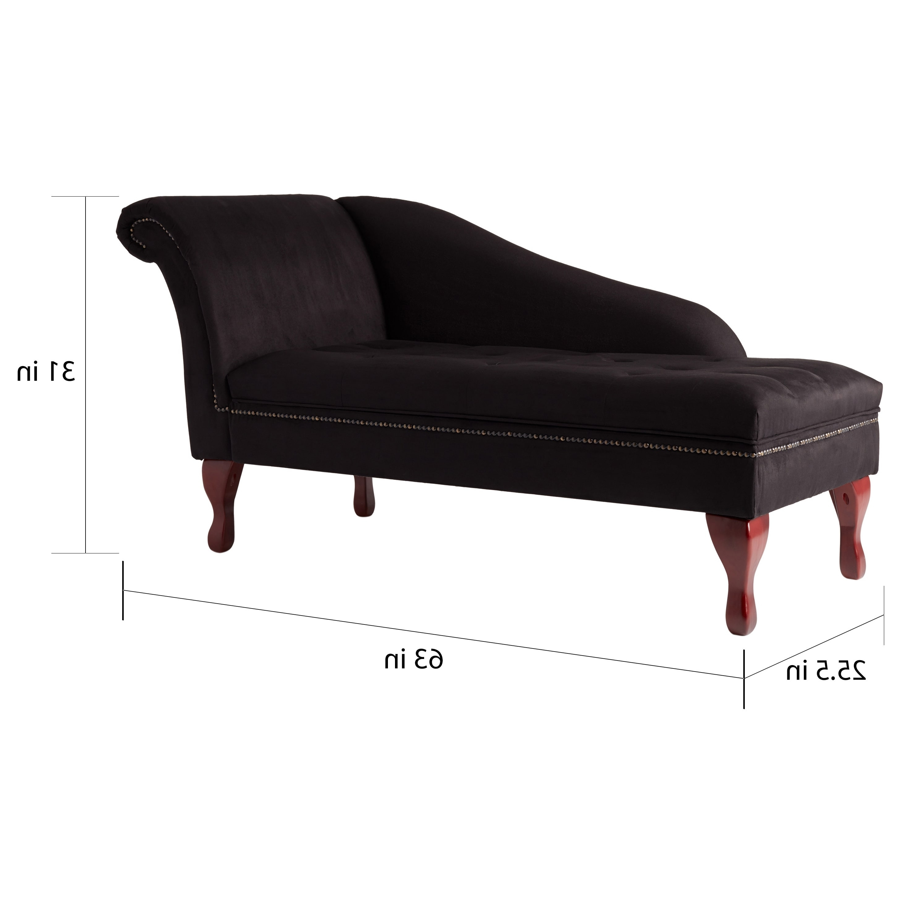 Most Recently Released Storage Chaise Lounges Pertaining To Simple Living Black Storage Chaise Lounge – Free Shipping Today (View 8 of 15)