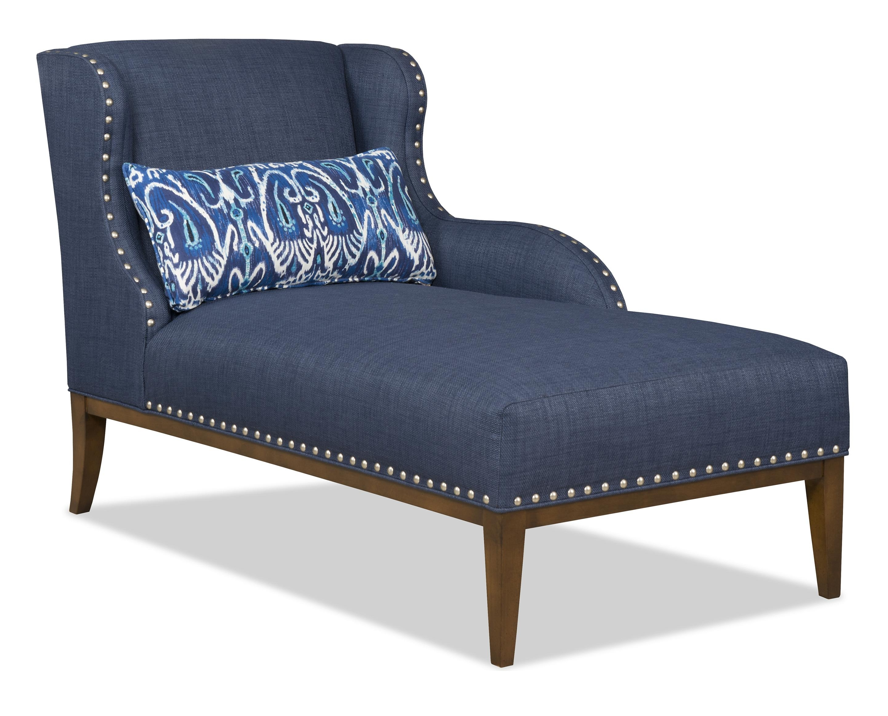 Most Recently Released Transitional Laf One Arm Chaise With Nailhead Trimsam Moore Pertaining To One Arm Chaises (View 9 of 15)