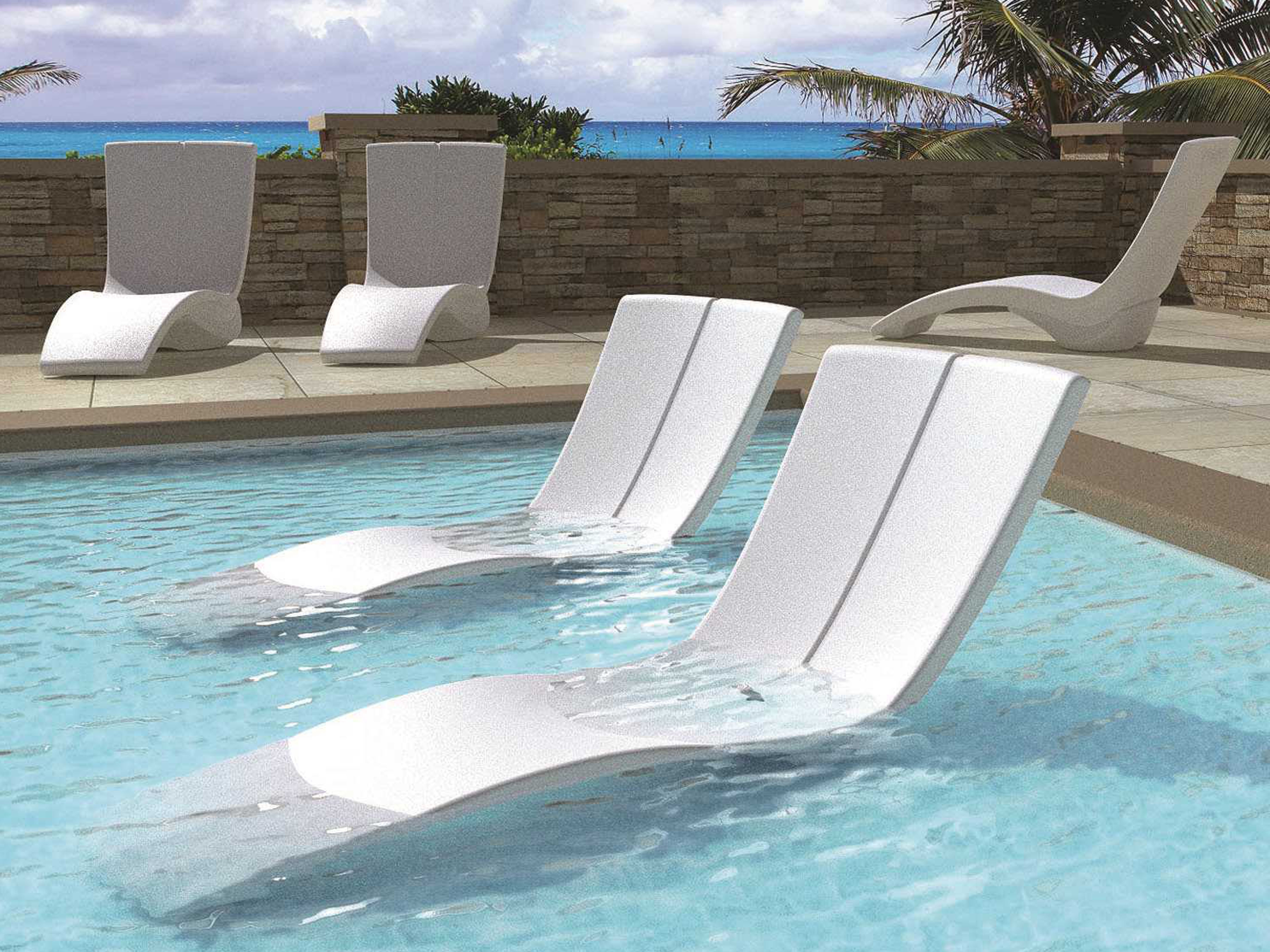 Most Recently Released Tropitone Chaise Lounges Pertaining To Tropitone Curve Recycled Plastic Chaise Lounge Set (View 3 of 15)