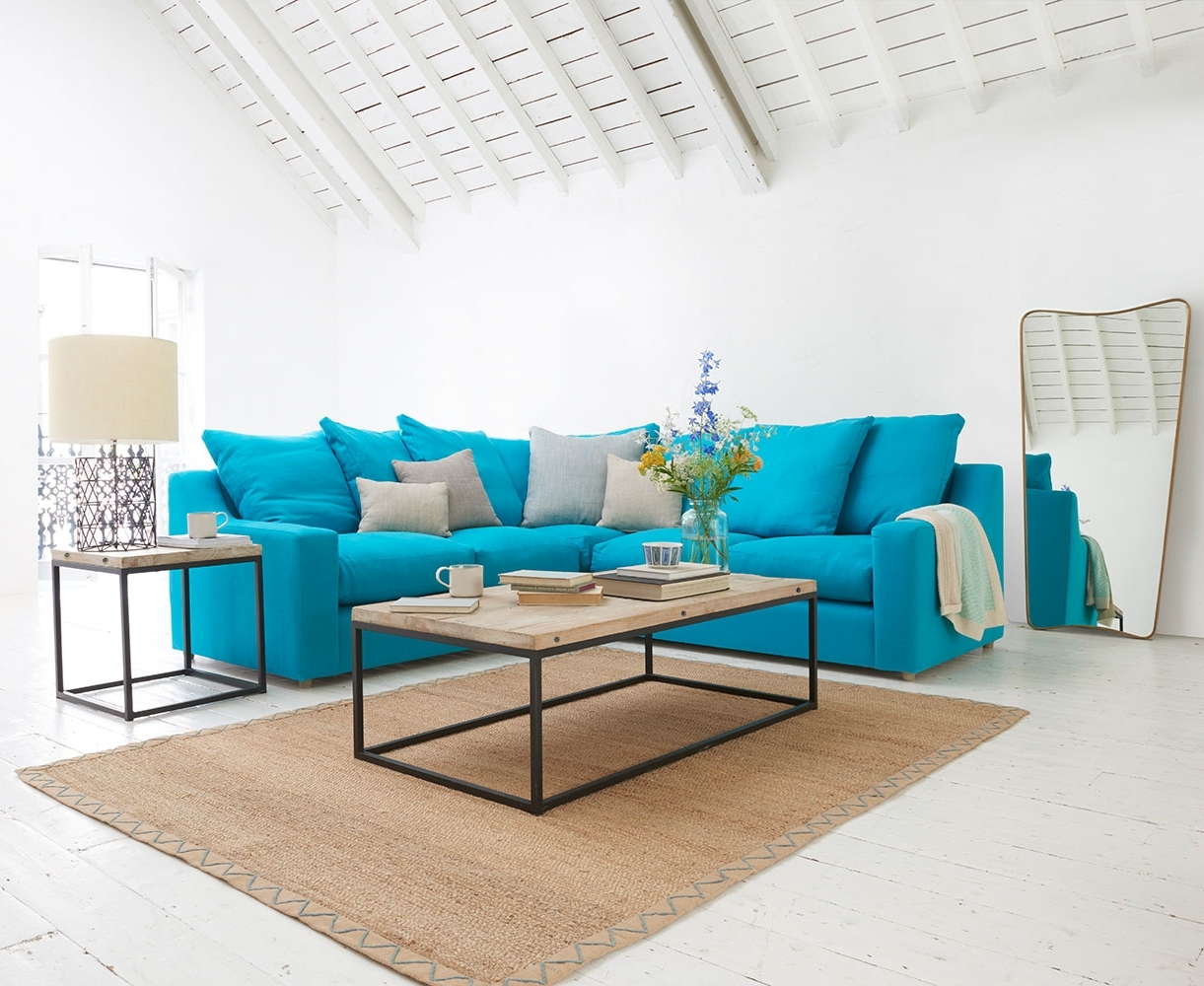Most Recently Released Turquoise Sofa Living Room — Awesome Homes : Best Ideas Turquoise For Turquoise Sofas (View 6 of 15)