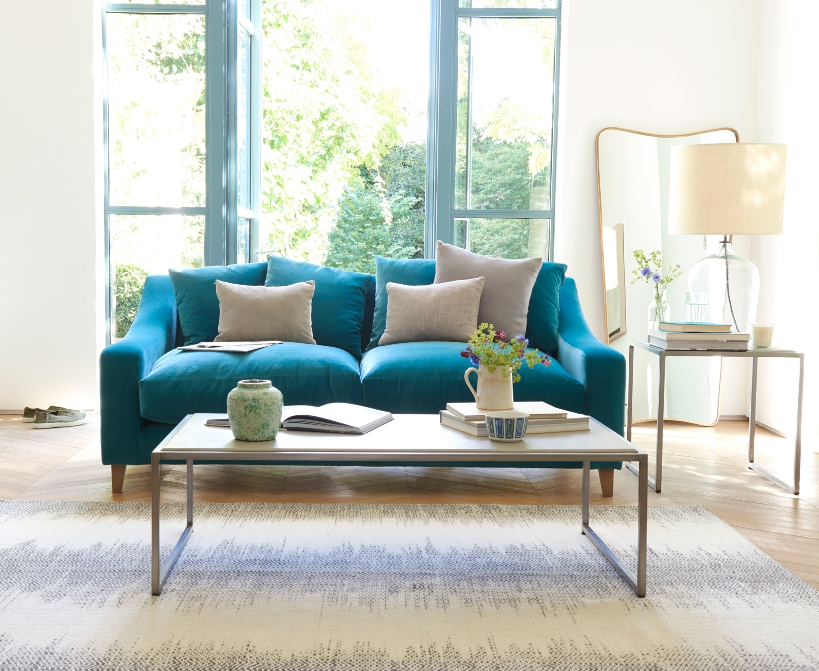 Most Recently Released Turquoise Sofa Living Room — Awesome Homes : Best Ideas Turquoise Intended For Turquoise Sofas (View 9 of 15)