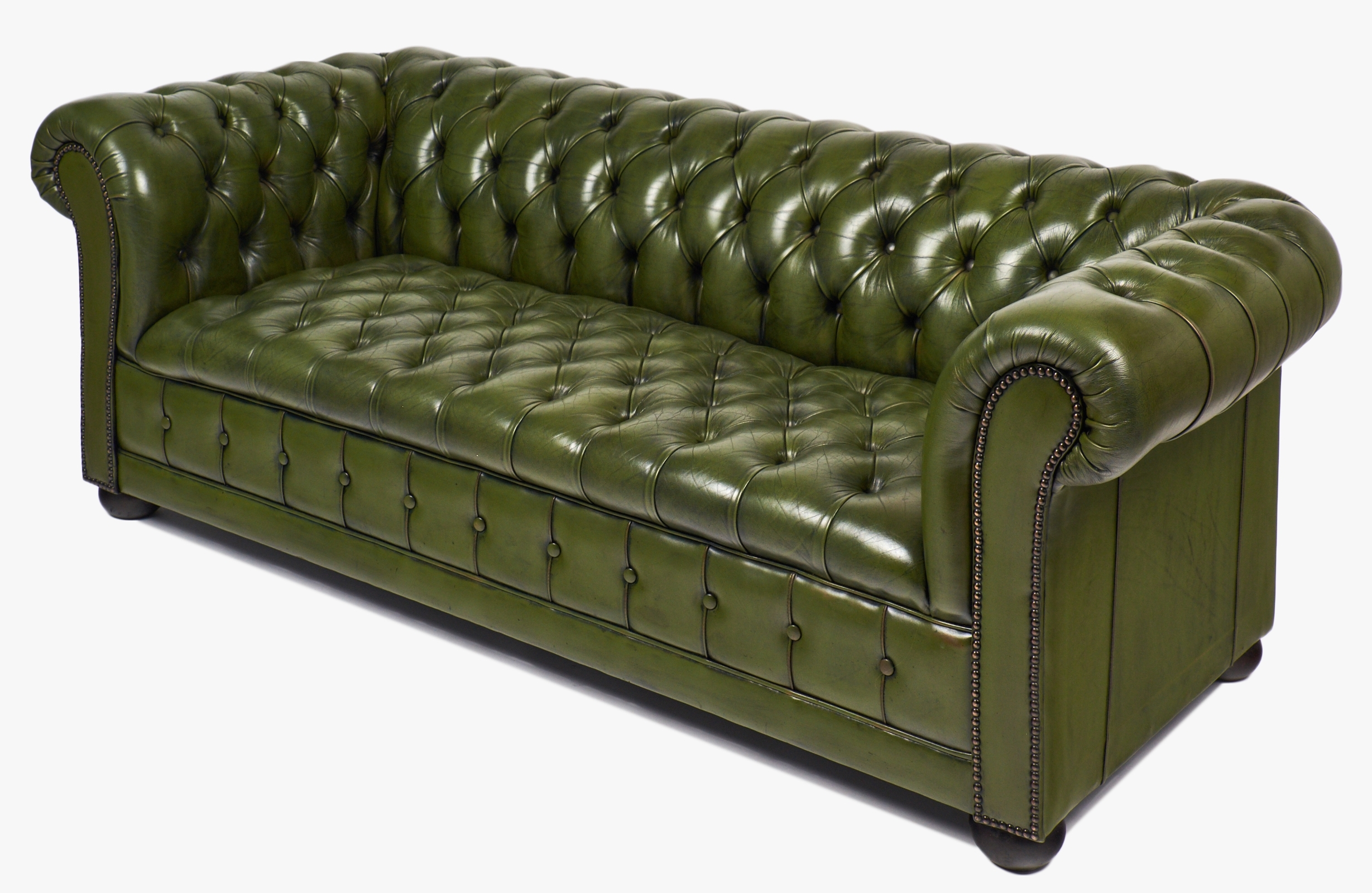 Most Recently Released Vintage Green Leather Chesterfield Sofa – Jean Marc Fray Intended For Vintage Chesterfield Sofas (View 11 of 15)