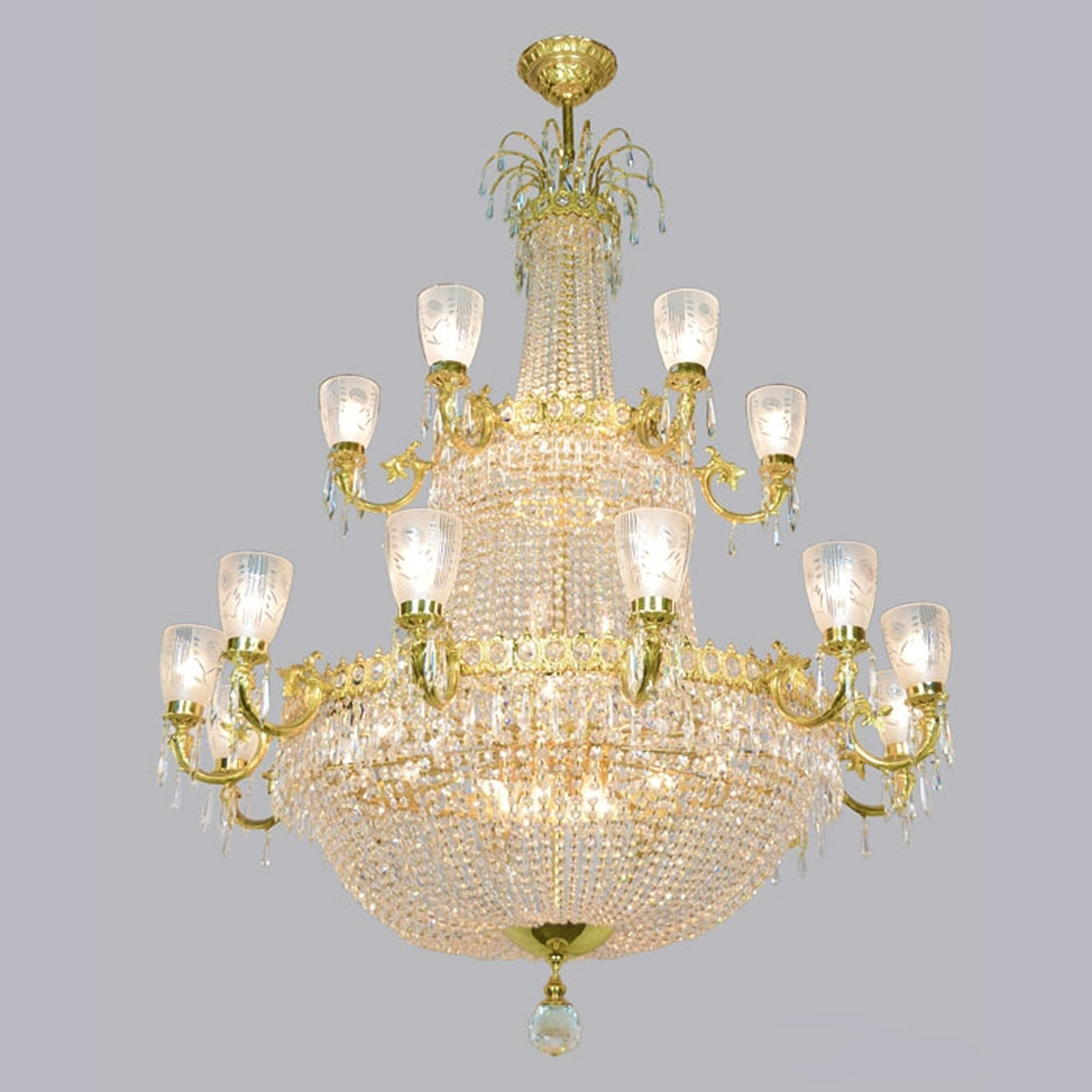 Most Up To Date Ballroom Chandeliers Pertaining To Magnificent Large Vintage Ballroom Crystal Chandelier (Ant 372) For (View 14 of 15)