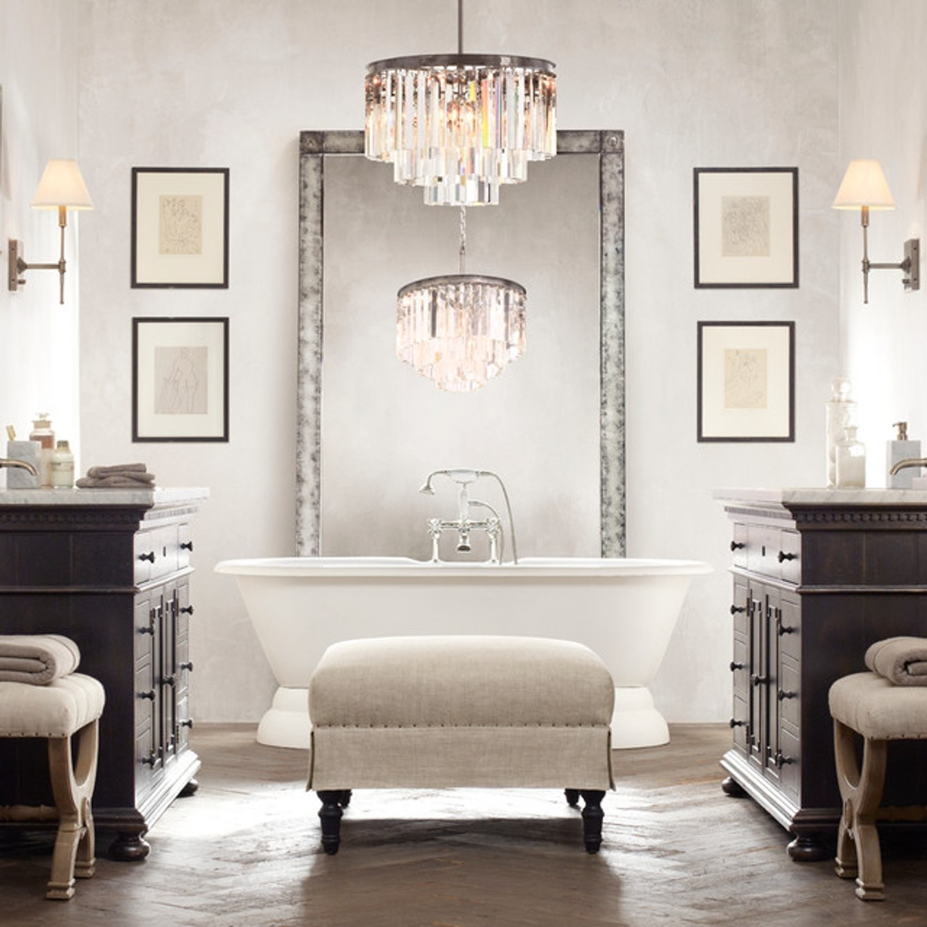 Most Up To Date Bedroom & Bathroom: Breathtaking Bathroom Chandeliers For For Bathroom Chandelier Lighting (View 13 of 15)