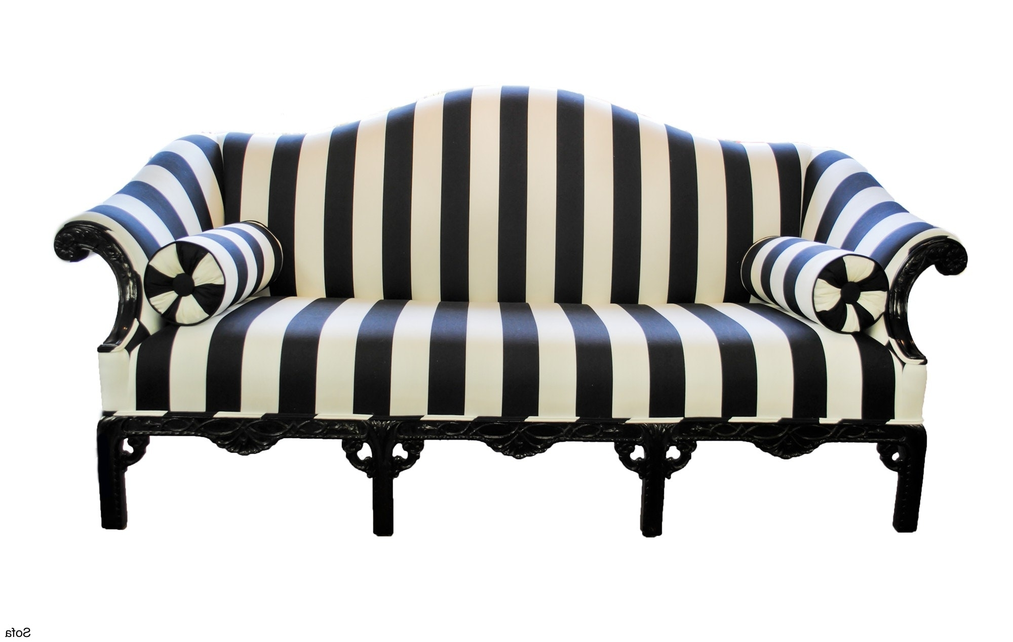 Most Up To Date Black And White Striped Sofa – Kaaiz In Striped Sofas And Chairs (View 12 of 15)