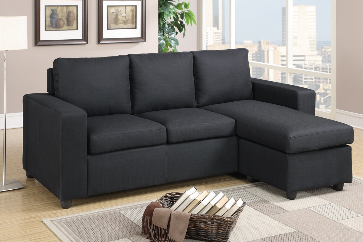 Most Up To Date Black Fabric Sectional Sofa – Steal A Sofa Furniture Outlet Los In Mini Sectional Sofas (View 2 of 15)
