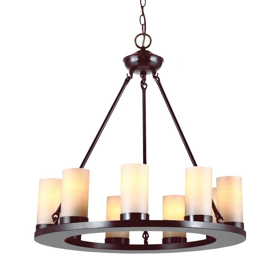 Most Up To Date Candle Chandelier Regarding Shop Sea Gull Lighting Ellington 27 In 9 Light Burnt Sienna Rustic (View 11 of 15)