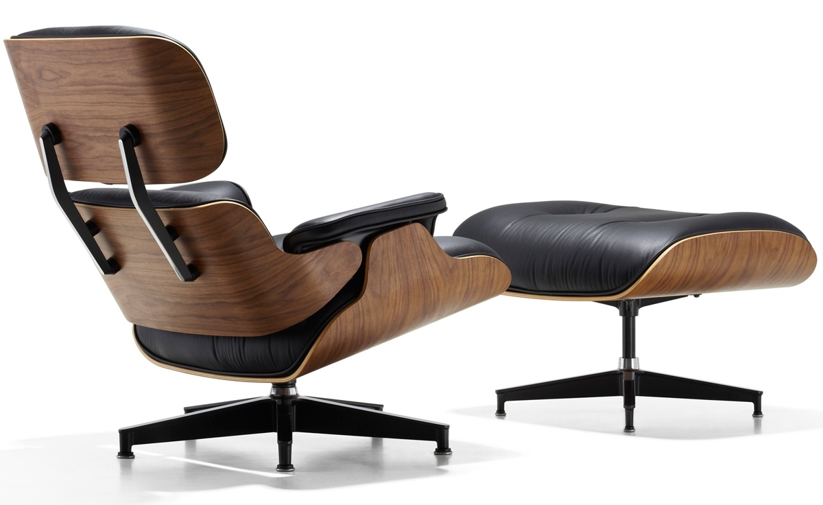 Most Up To Date Chairs With Ottoman Throughout Eames® Lounge Chair & Ottoman – Hivemodern (View 9 of 15)