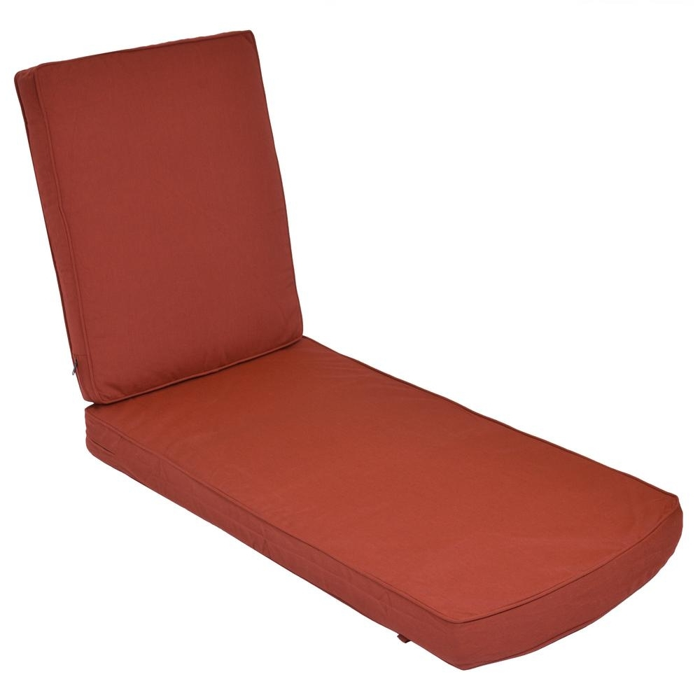Most Up To Date Chaise Lounge Cushions In Sunbrella Canvas Henna Replacement 2 Piece Outdoor Chaise Lounge (View 11 of 15)