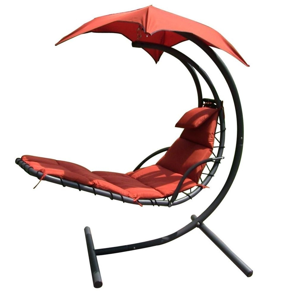 Most Up To Date Chaise Lounge Swing Chairs Intended For Hanging Chaise Lounger Canopy Chair Arc Stand Air Porch Swing (View 12 of 15)