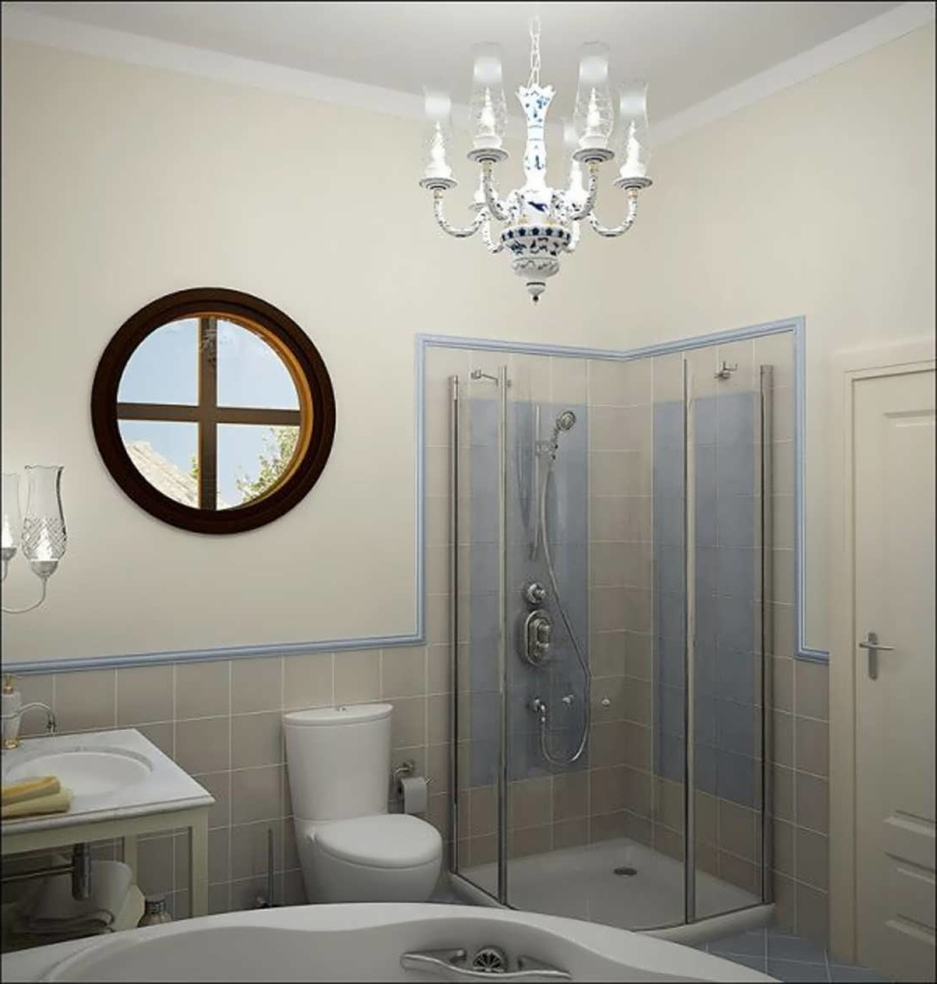 Featured Photo of Chandeliers For Bathrooms