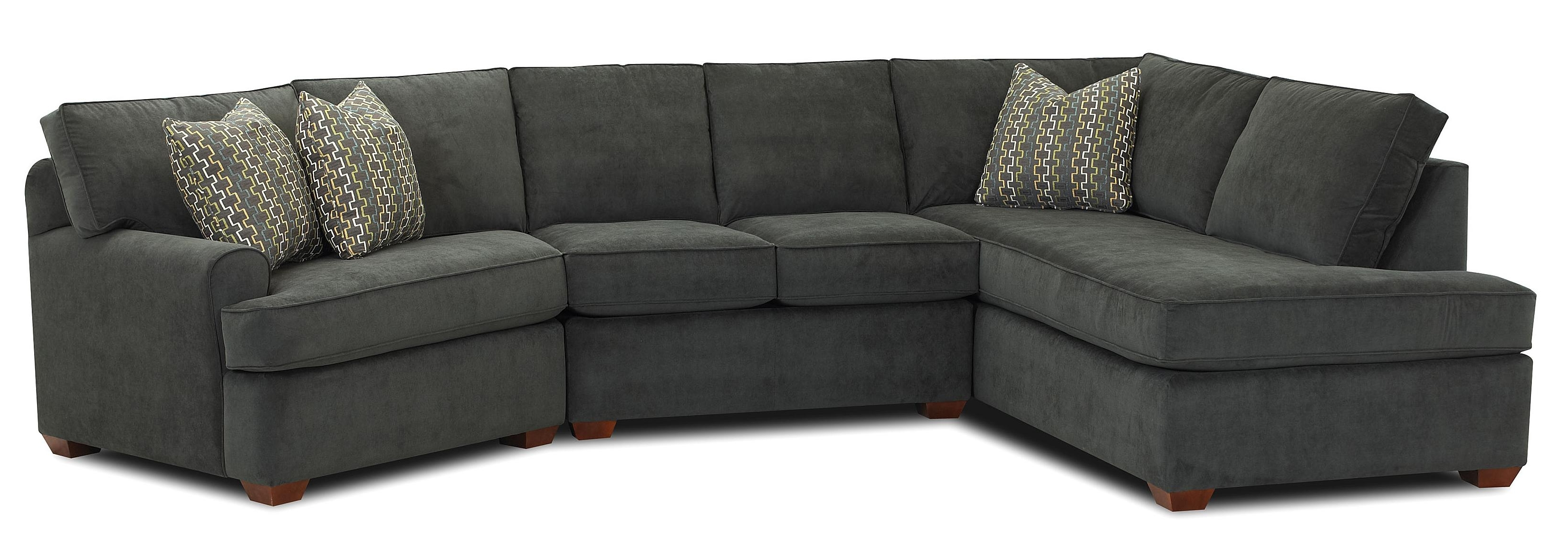 Most Up To Date Couches With Chaise Pertaining To Klaussner Hybrid Sectional Sofa With Left Facing Sofa Chaise (View 10 of 15)