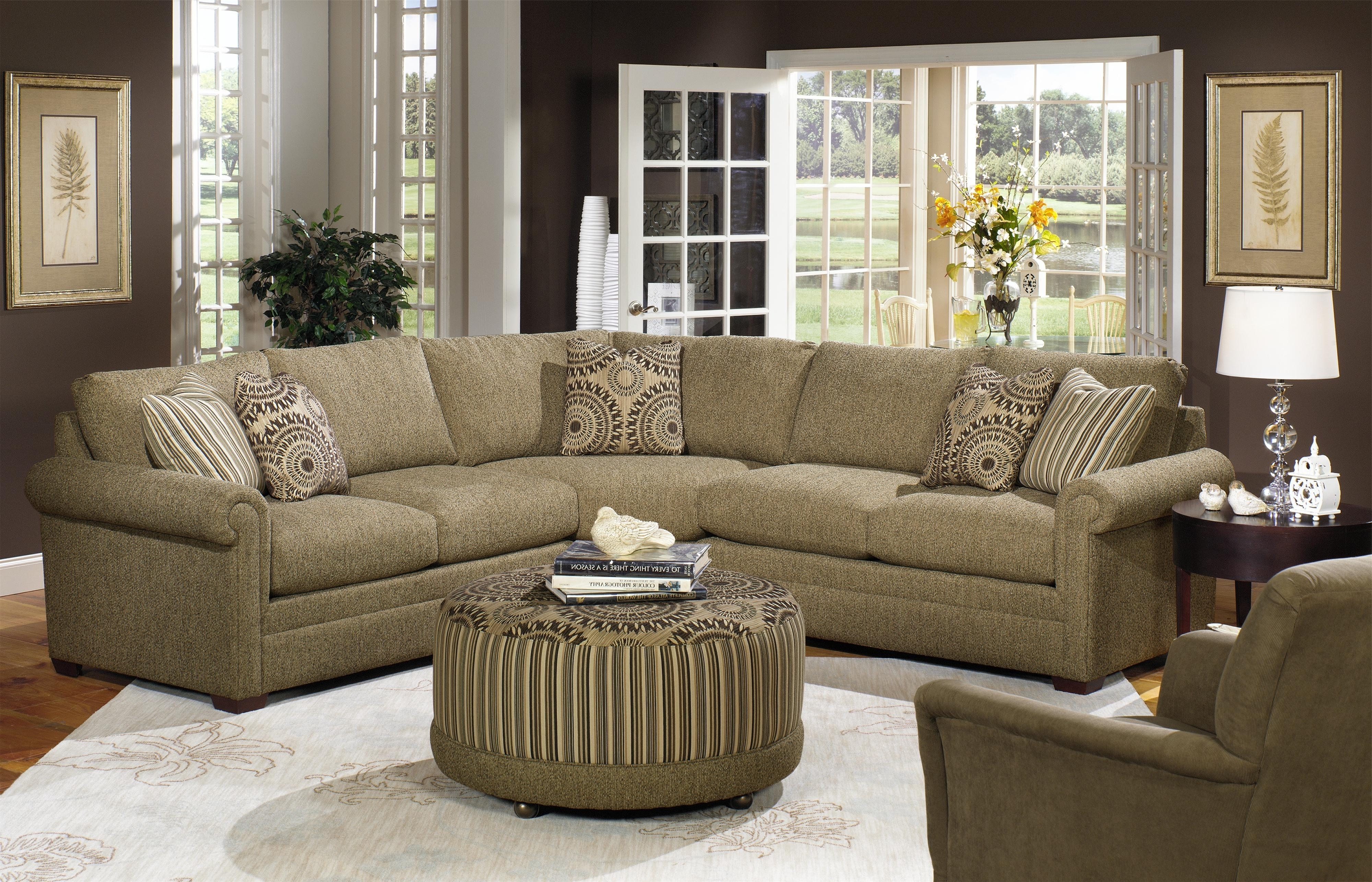 Most Up To Date Craftmaster F9 Custom Collection Customizable Three Piece Regarding Craftsman Sectional Sofas (View 13 of 15)