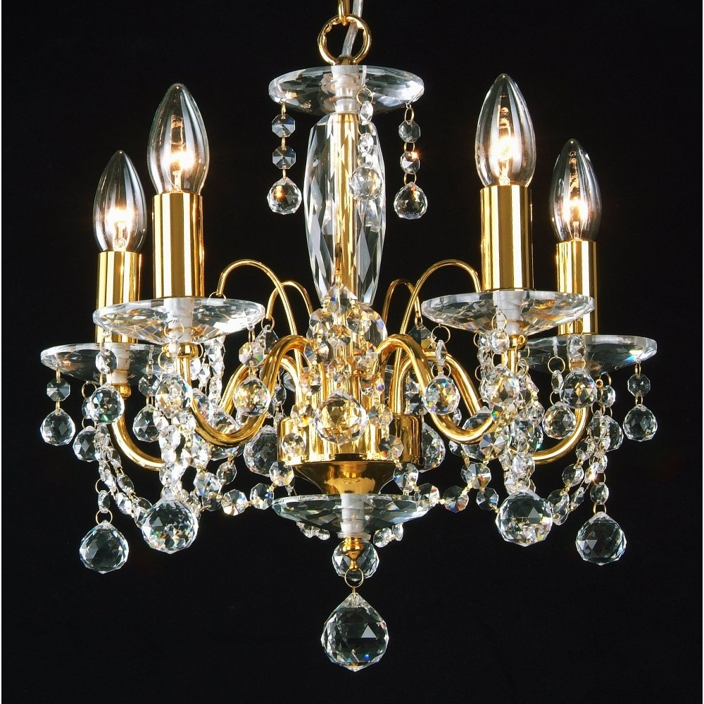 Most Up To Date Crystal Gold Chandeliers With Regard To Chandeliers Design : Fabulous Terrific Gold Chandeliers Small (View 3 of 15)