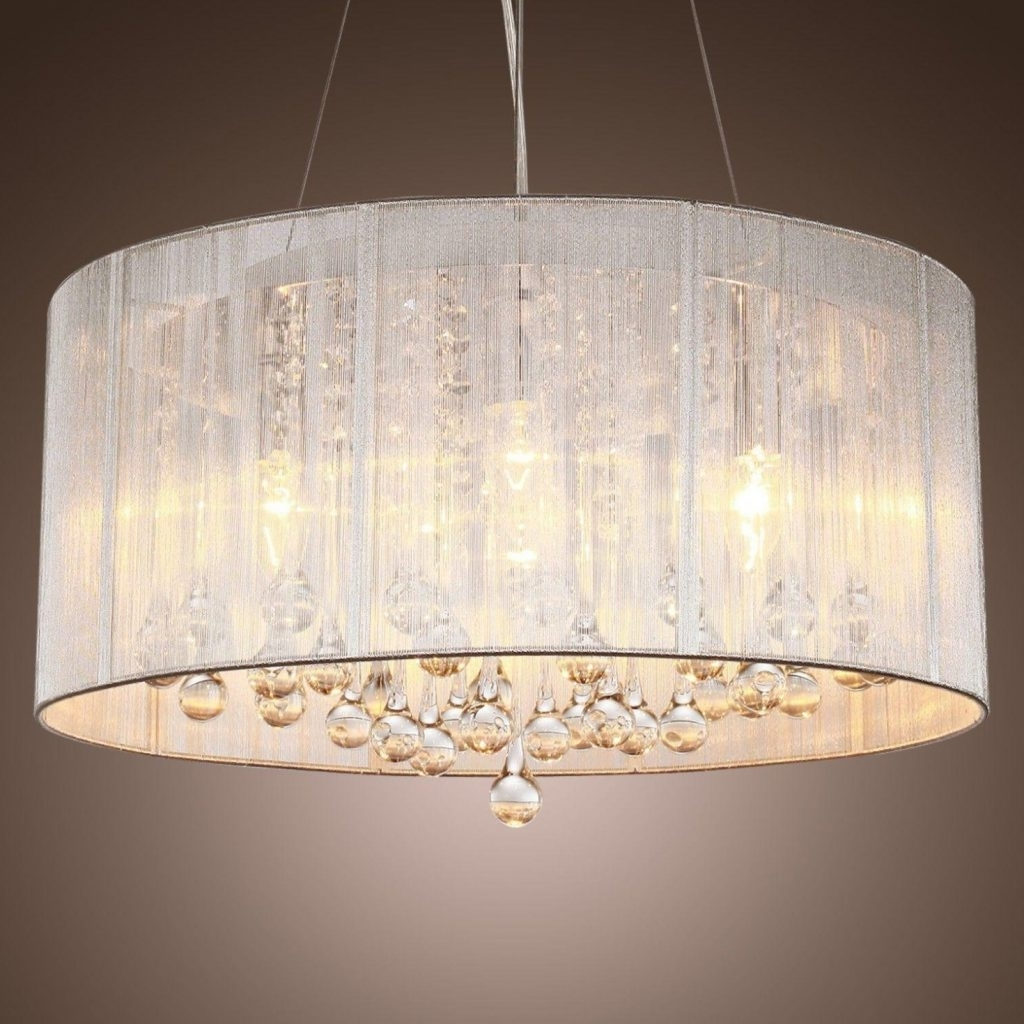 Most Up To Date Drum Lamp Shades For Chandeliers Pertaining To Large Drum Lamp Shades For Chandelier – Chandelier Designs (View 4 of 15)