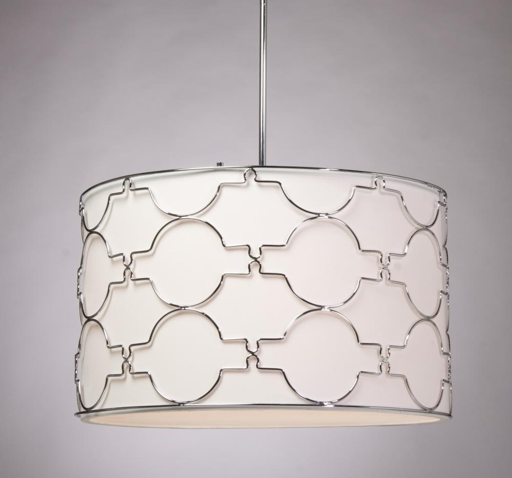 Most Up To Date Drum Shade Pendant Lighting (View 10 of 15)