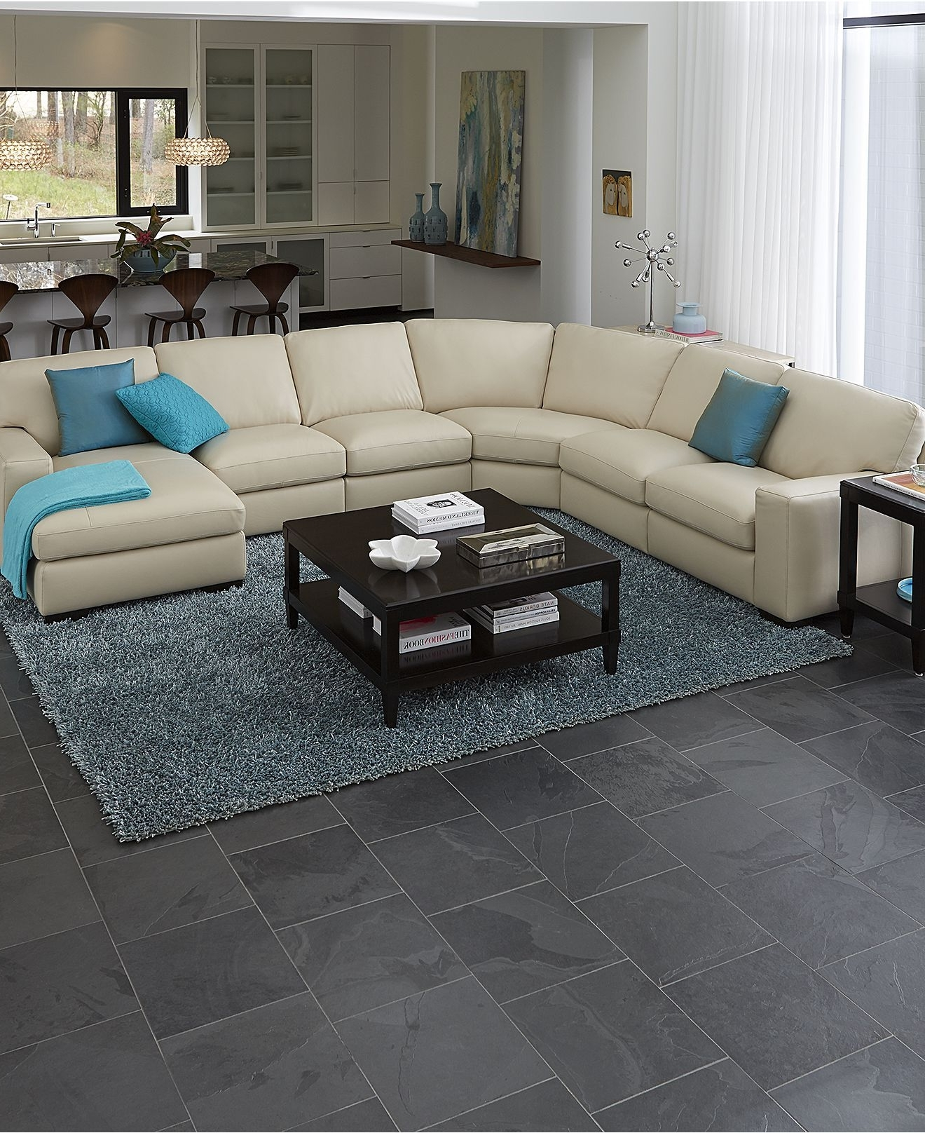Most Up To Date Fabrizio Leather Sectional Sofa Living Room Furniture Collection Regarding Oakville Sectional Sofas (View 9 of 15)