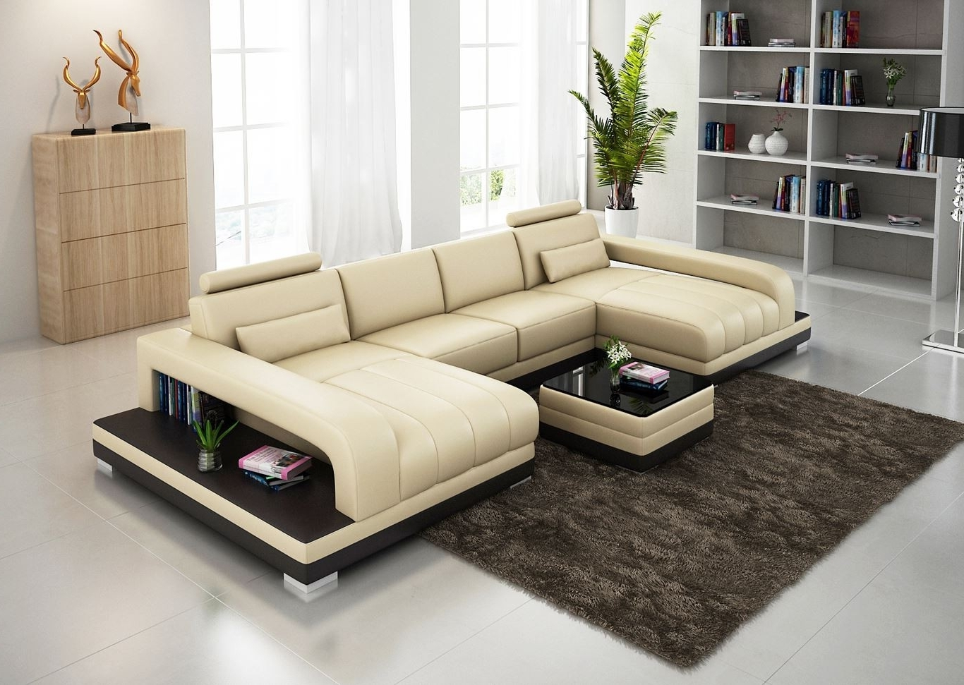 Most Up To Date Fantastic Double Chaise Sectionals Designs – Decofurnish Intended For Dual Chaise Sectionals (View 12 of 15)