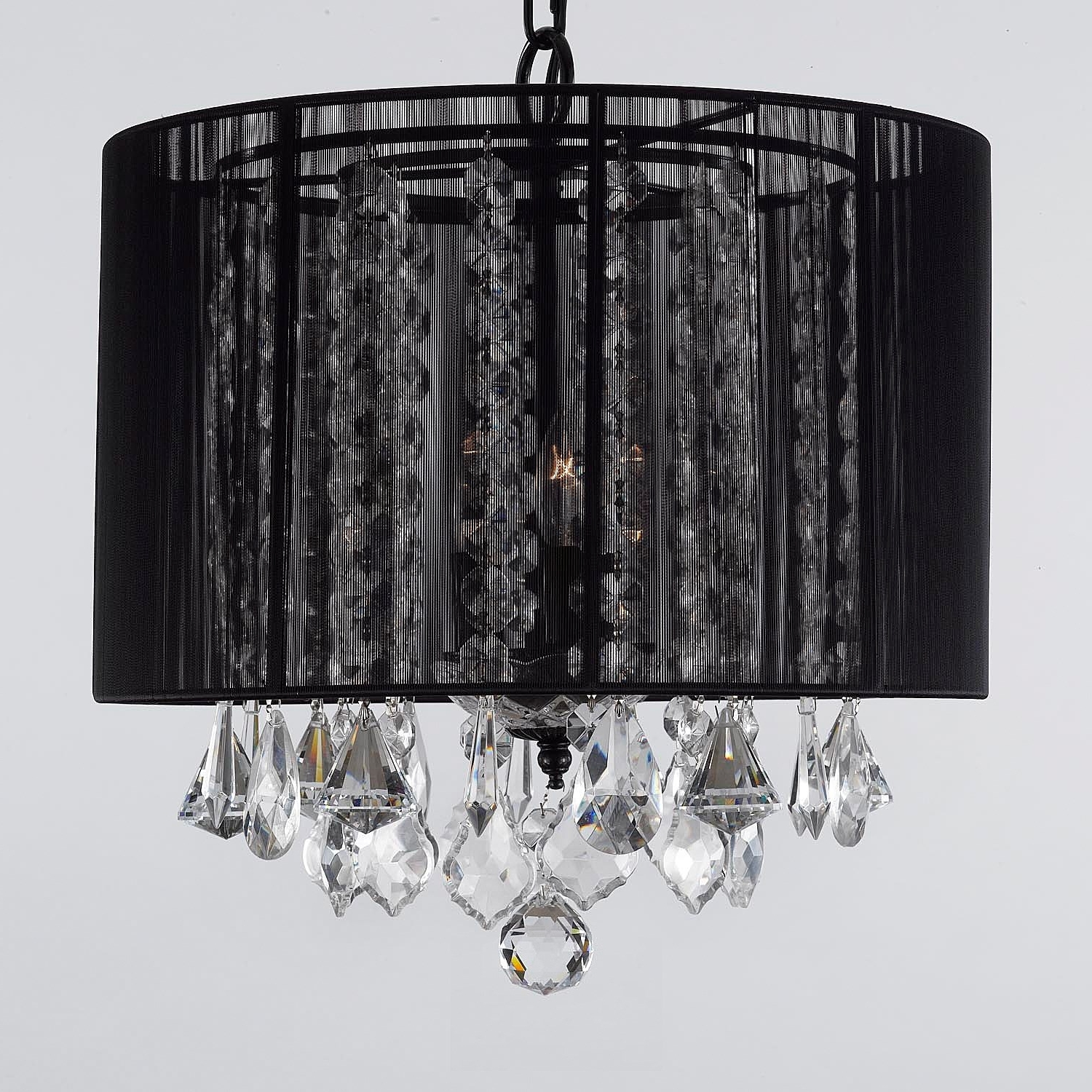 Most Up To Date Gallery Lighting Sm 604 3 3 Light Crystal Chandelier With Black Inside 3 Light Crystal Chandeliers (View 12 of 15)