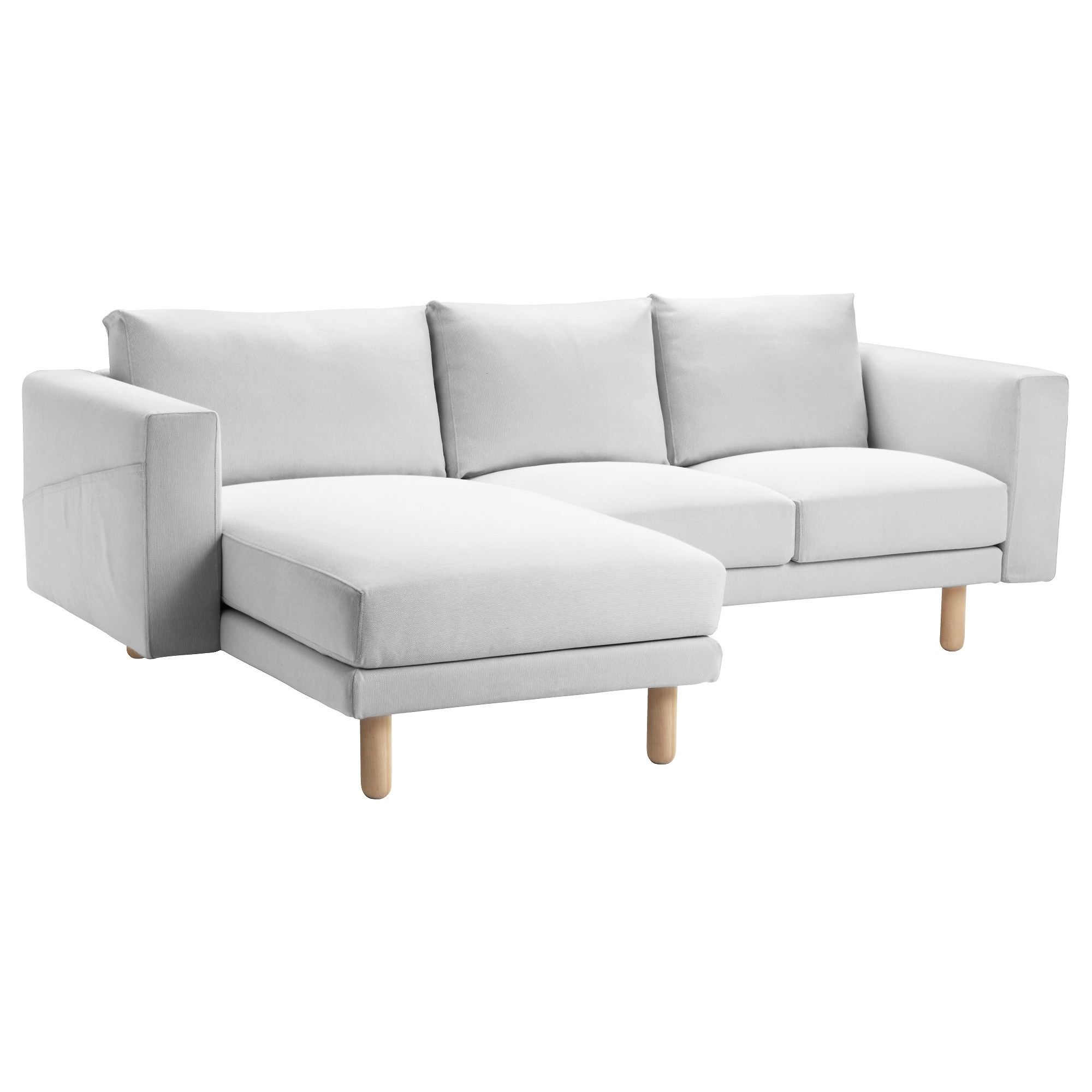 Most Up To Date Ikea Chaise Sofas Pertaining To Norsborg Sectional, 3 Seat – Finnsta White, Birch – Ikea (View 9 of 15)