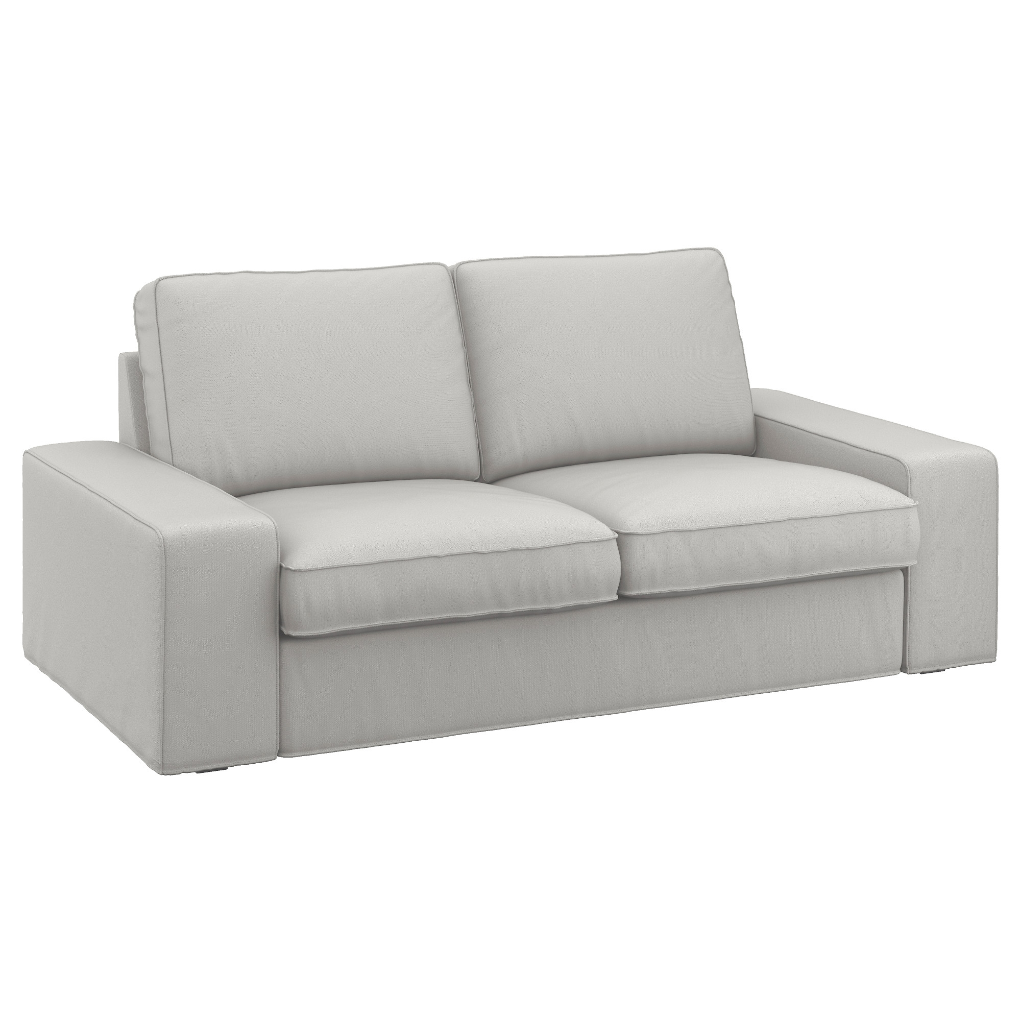 Most Up To Date Ikea Two Seater Sofas Intended For Kivik Two Seat Sofa Ramna Light Grey – Ikea (View 2 of 15)