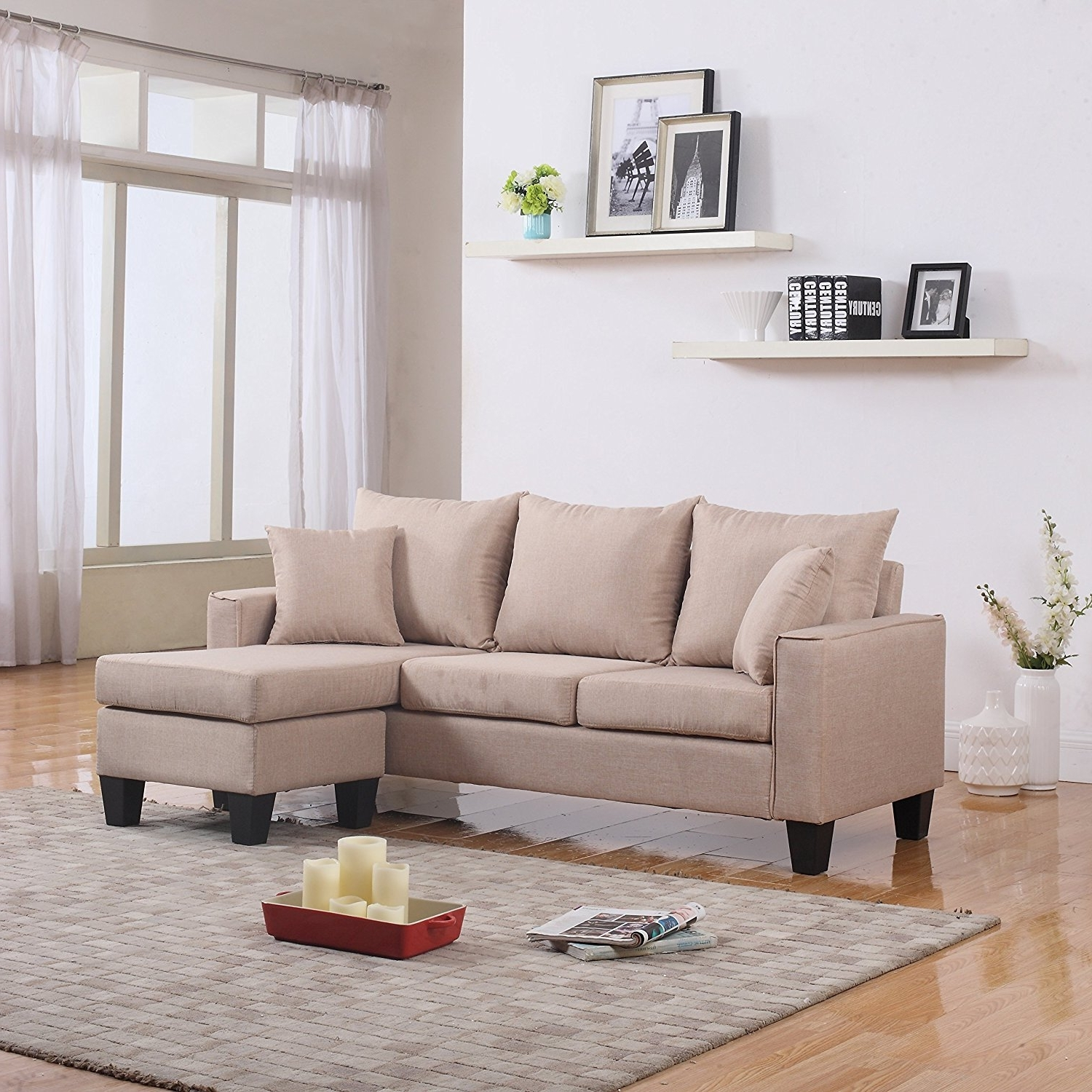 Most Up To Date Inexpensive Sectional Sofas For Small Spaces Regarding Ethan Allen Furniture Small Sectional Sofas For Small Spaces (View 15 of 15)