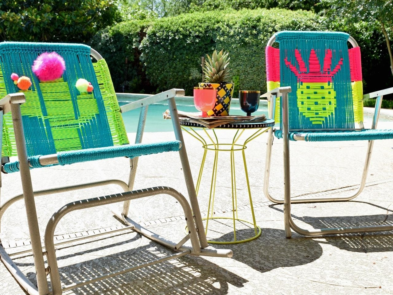 Most Up To Date Lawn Chaises In How To Macrame A Vintage Lawn Chair (View 8 of 15)