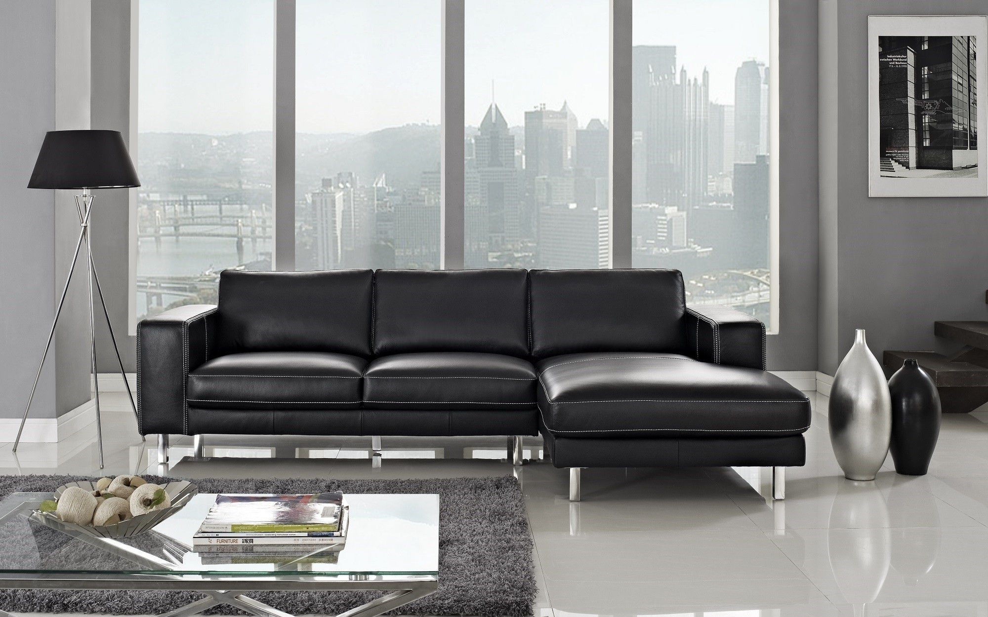 Most Up To Date Leather Chaise Sectionals With Regard To Anika Leather Sectional Left Facing Chaise (View 11 of 15)