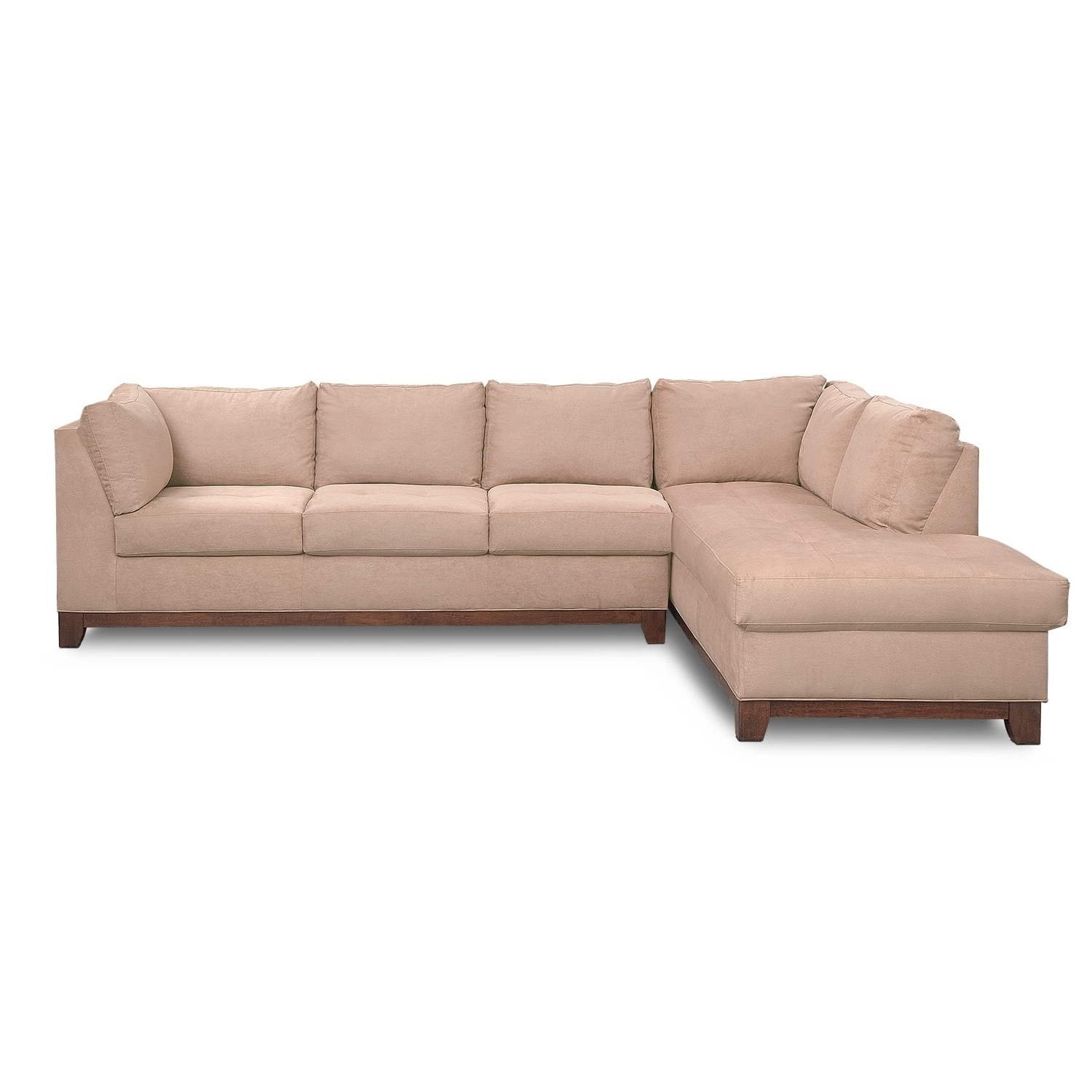 Most Up To Date Left Facing Chaise Sectionals Inside Soho 2 Piece Sectional With Left Facing Chaise – Cobblestone (View 5 of 15)