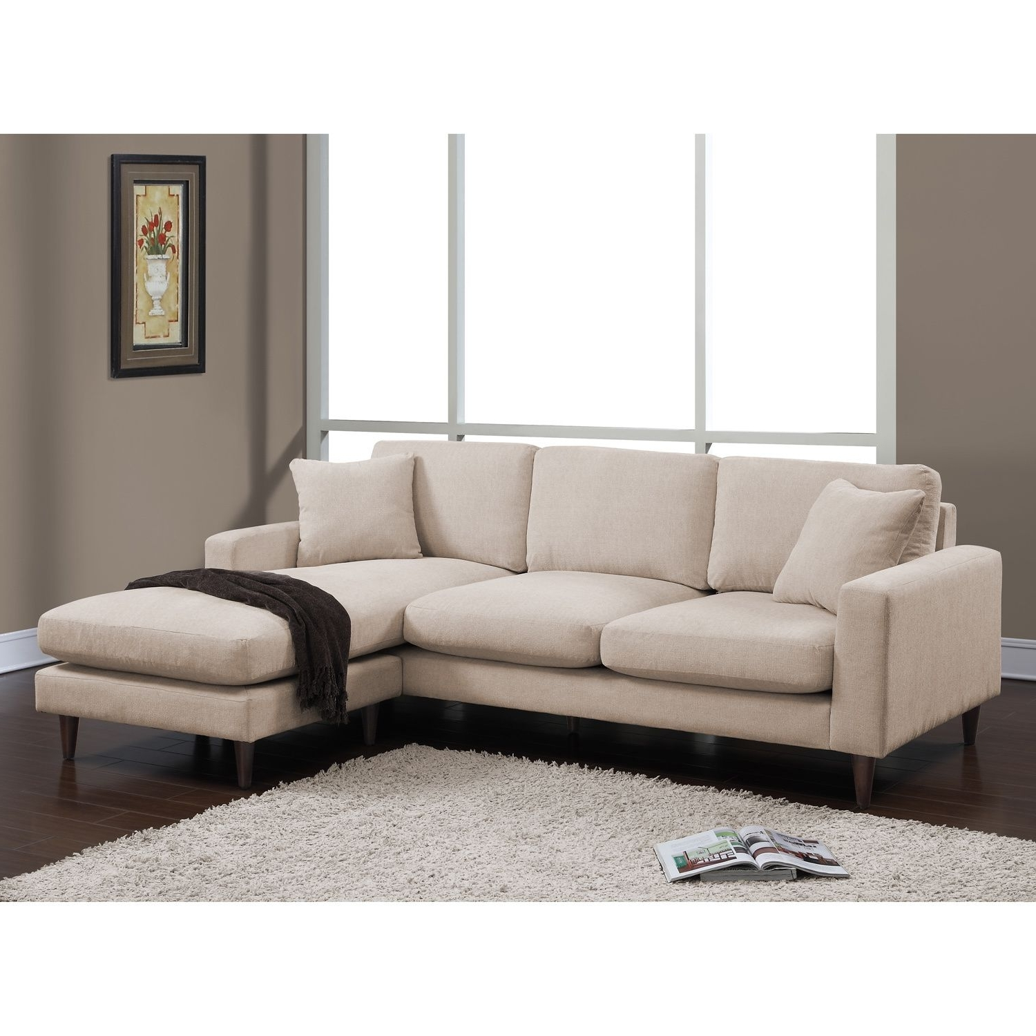 Most Up To Date Lounge In Total Comfort With The Shaffer Two Piece Sectional Made Throughout Down Sectional Sofas (View 9 of 15)