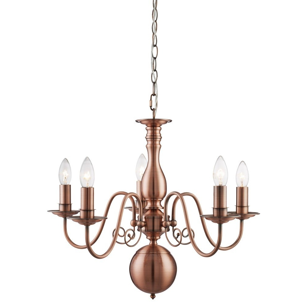 Most Up To Date Natalie 5 Light Ceiling Light Copper (View 8 of 15)