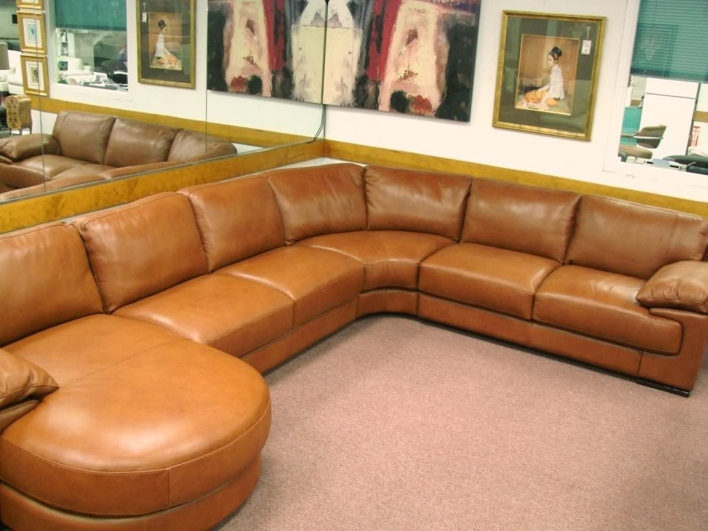 Most Up To Date Natuzzi Editions Leather Sectionals B684, Cognac Leather Sale Intended For Camel Colored Sectional Sofas (View 11 of 15)