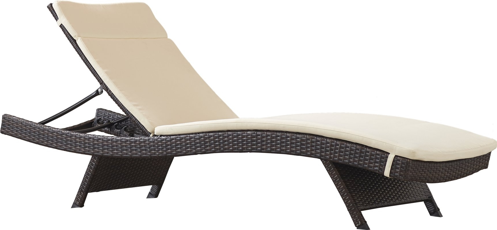 Most Up To Date Outdoor Wicker Chaise Lounges Regarding Brayden Studio Garry Wicker Adjustable Chaise Lounge With Cushion (View 9 of 15)