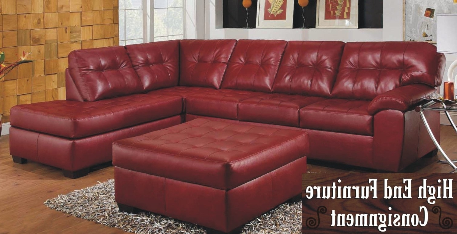 Most Up To Date Red Leather Sectional Couches In Elegant Red Leather Sectional Sofa 89 Sofas And Couches Set With (View 6 of 15)