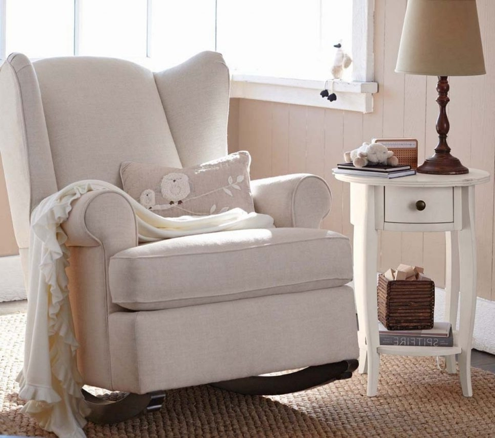 Most Up To Date Rocking Sofa Chairs Inside Sofa : Mesmerizing Brown Rocking Chair For Nursery Baby Beauteous (View 9 of 15)