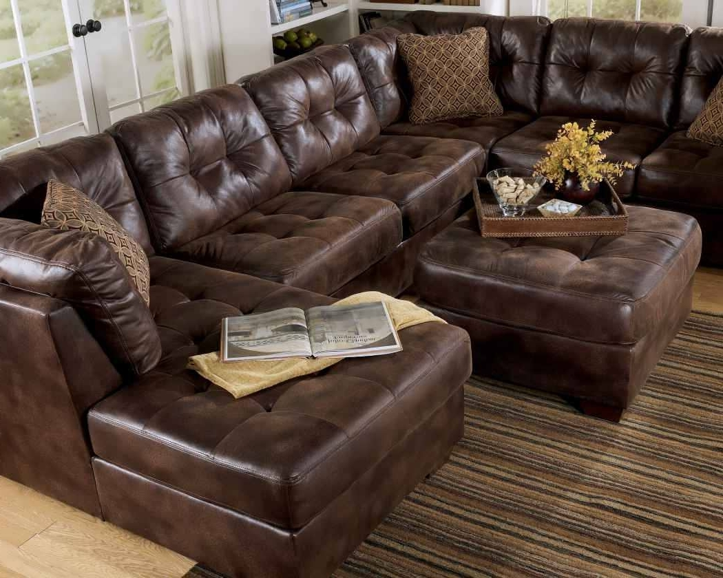 Most Up To Date Sofa : Brown Sectional With Chaise Leather Sectional Sofa White With Regard To Genuine Leather Sectionals With Chaise (View 11 of 15)
