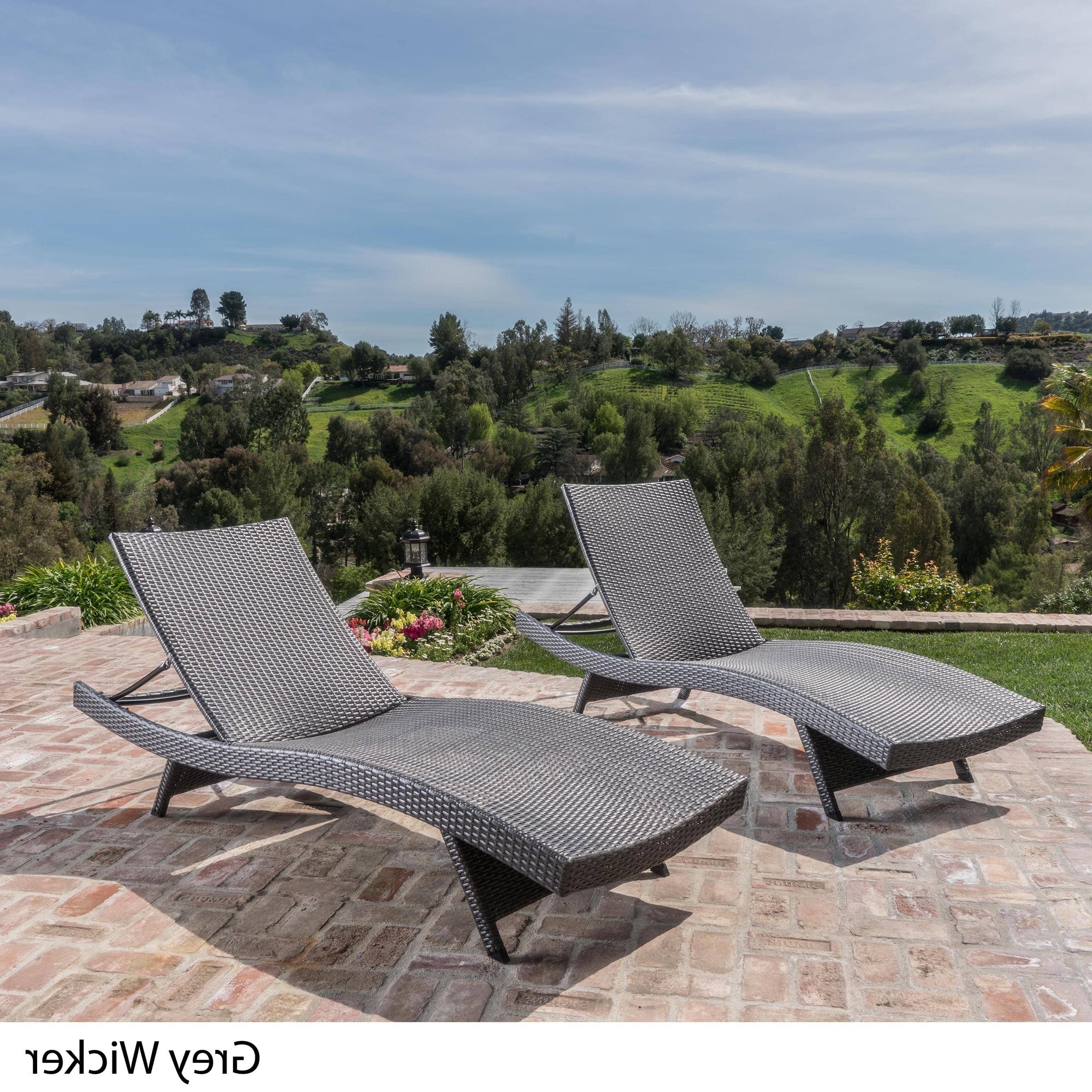 Most Up To Date Toscana Outdoor Wicker Lounge Chairschristopher Knight Home Throughout Grey Wicker Chaise Lounge Chairs (View 3 of 15)