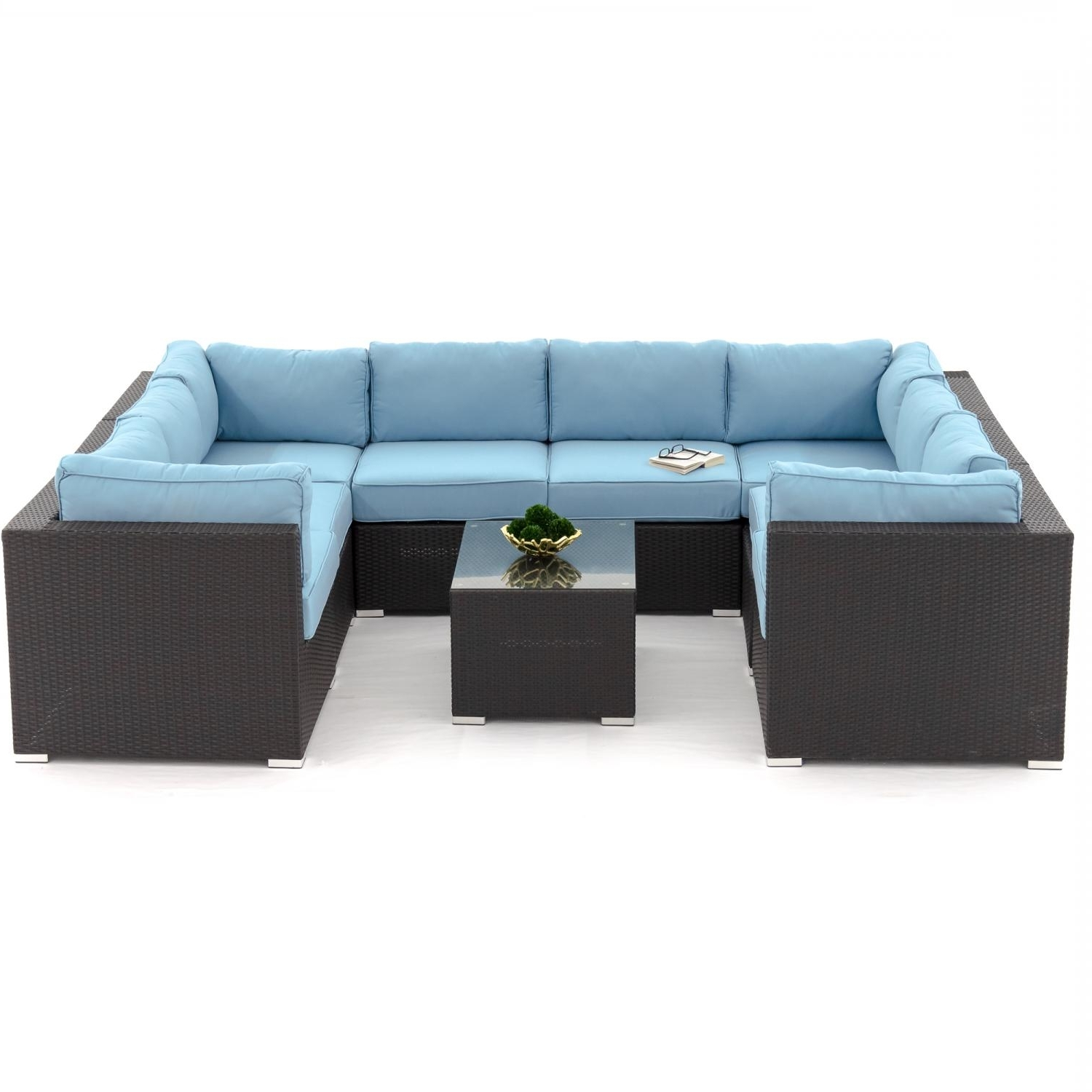 Most Up To Date U Shaped Outdoor Sectional – Outdoor Designs In Blue U Shaped Sectionals (View 11 of 15)