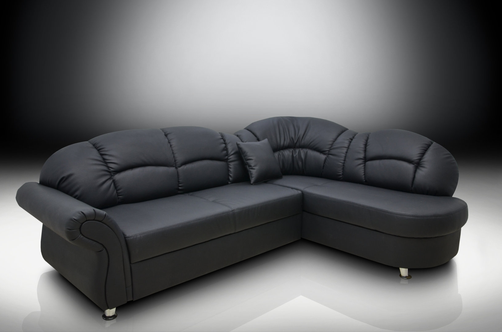 Most Up To Date White Leather Corner Sofas For Black Corner Sofas – A Perfect Mix Of Luxury, Comfort, Style For (View 12 of 15)