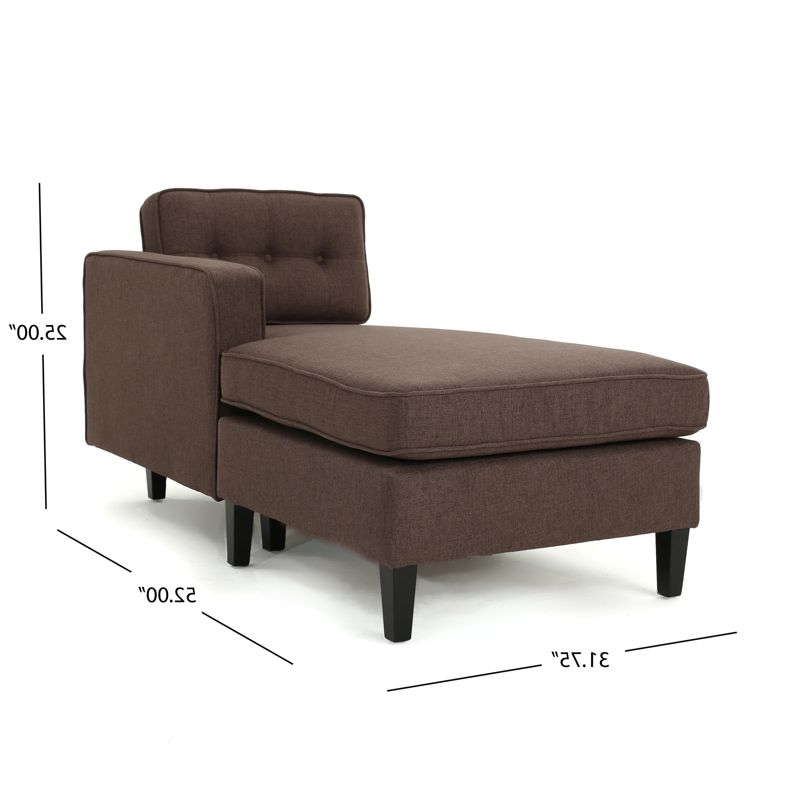 Most Up To Date Wilder Mid Century Modern 2 Piece Fabric Chaise Sectional Sofa With Modern Chaise Sofas (View 13 of 15)